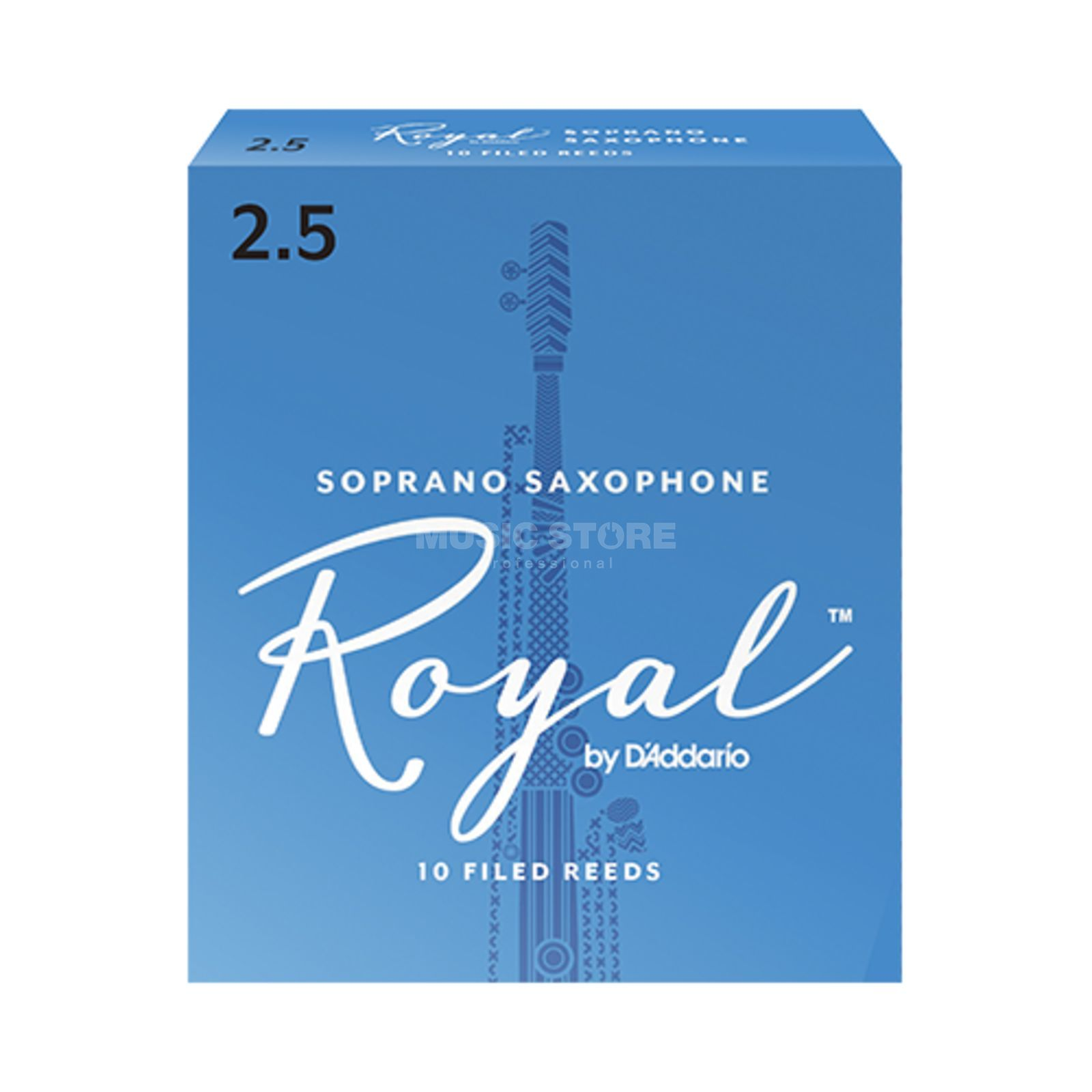 D'Addario Woodwinds Soprano Saxophone Reeds 2.5 Box of 10 Изображение товара