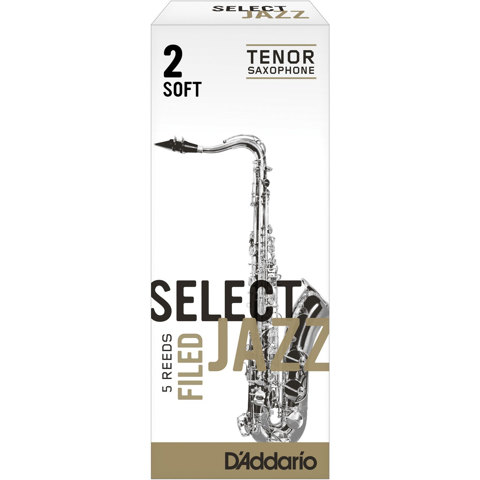 D'Addario Woodwinds Tenor Sax Reeds 2S Box of 5 Zdjęcie produktu