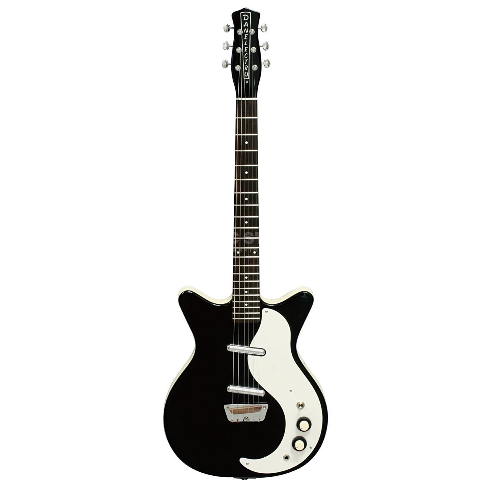 Danelectro '59 Double Cut Original BK Black Produktbild