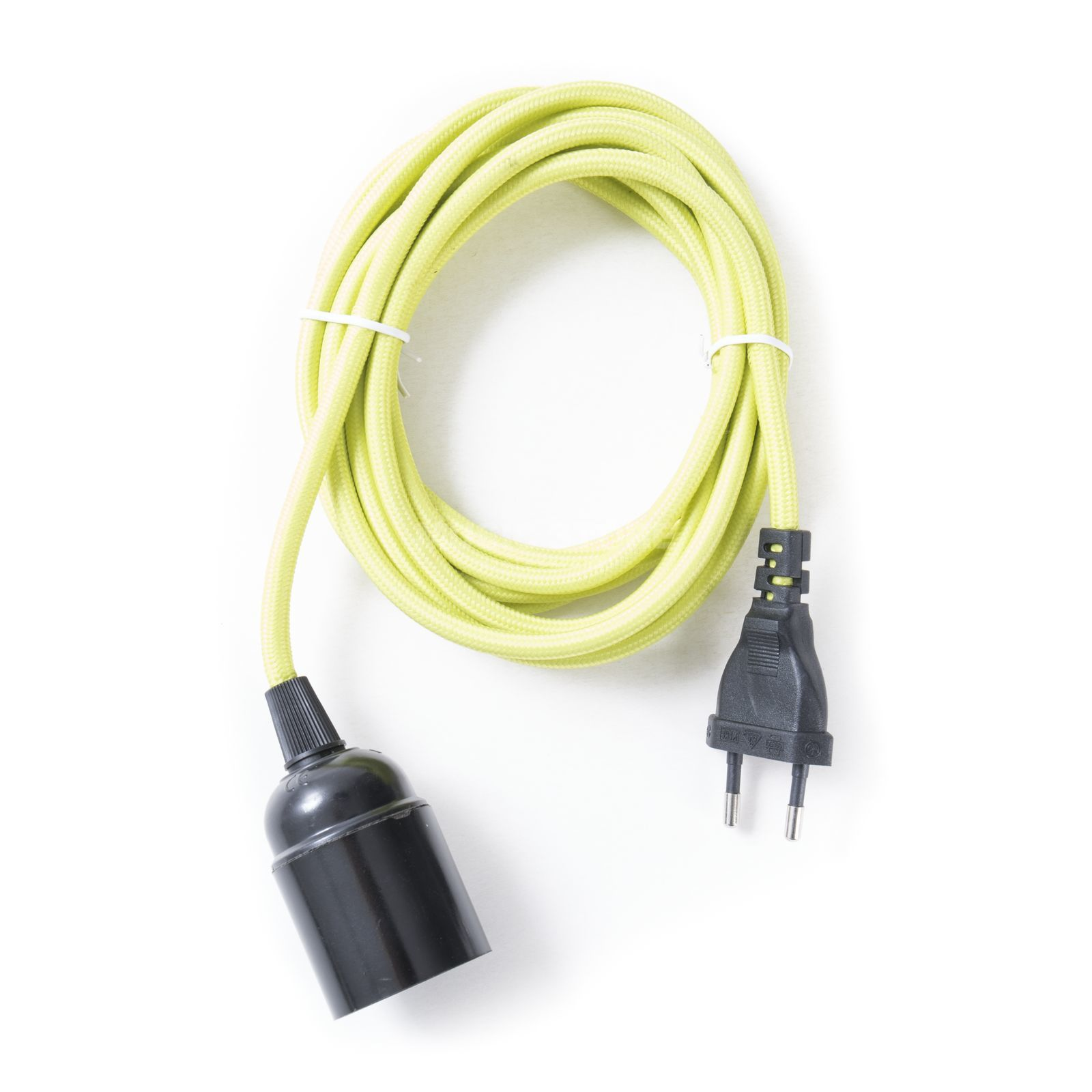 Danlamp A/S TextilCable with E27, Lime 3m Produktbillede