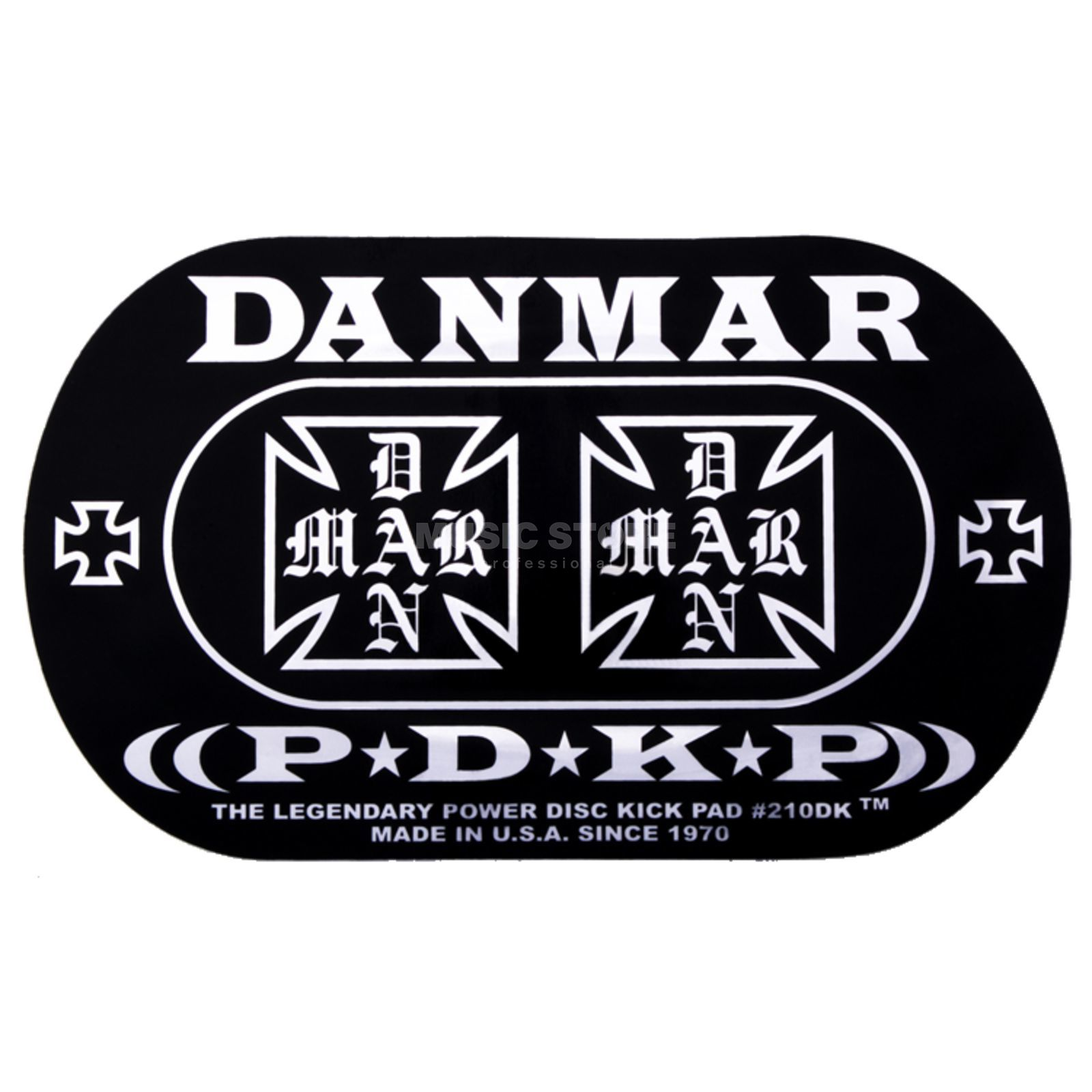Danmar Drum Zubehör basDrum Kickpad 210DKIC, Double pedaal, Iron Cross Productafbeelding