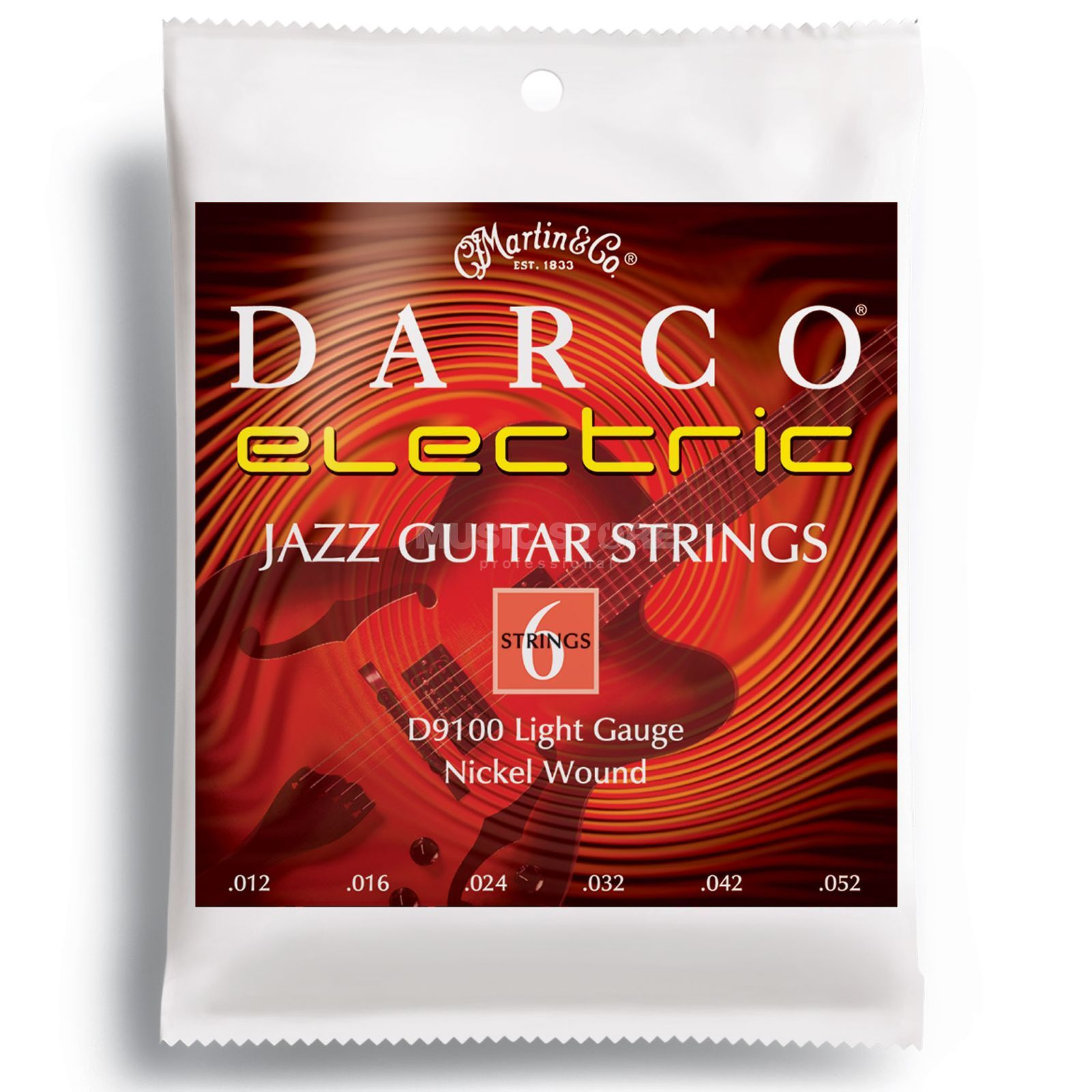 Darco E-Guitar Strings D9100 12-52 Nickel Produktbillede