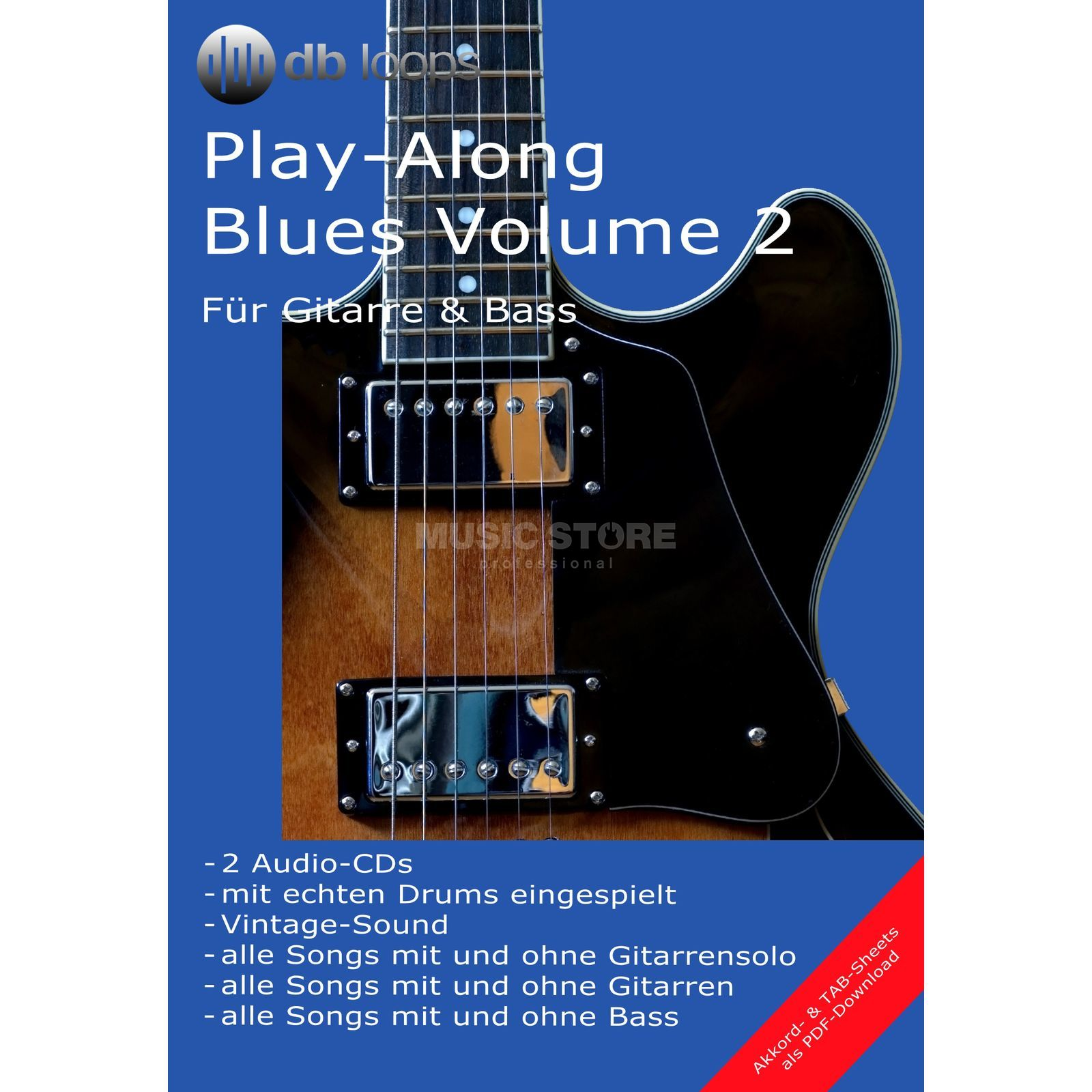 db loops Blues - Volume 2 Gitarre Playalong Produktbild