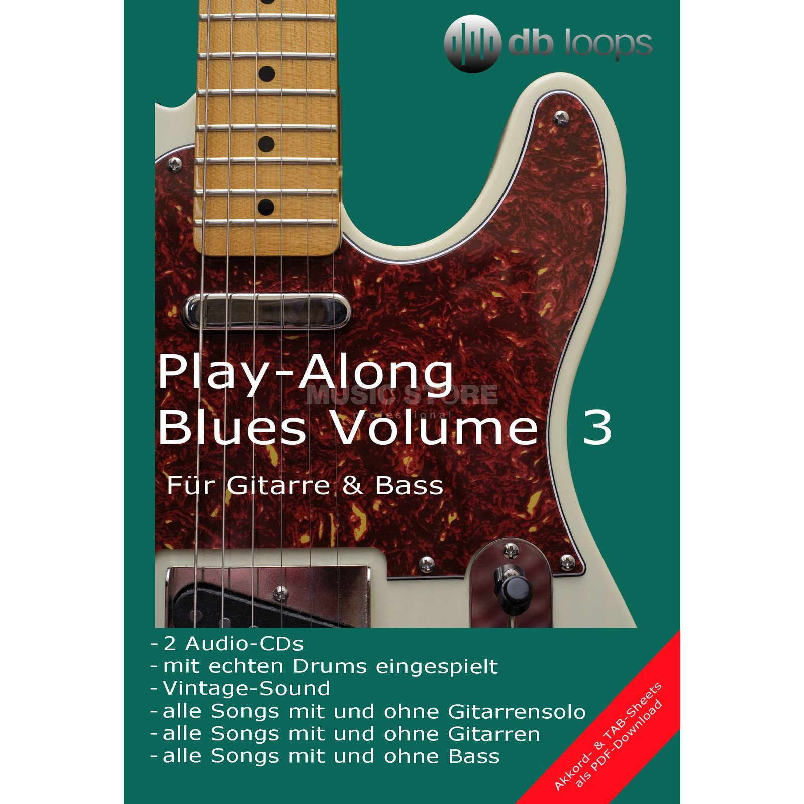 db loops Blues - Volume 3 Gitarre Playalong Produktbild