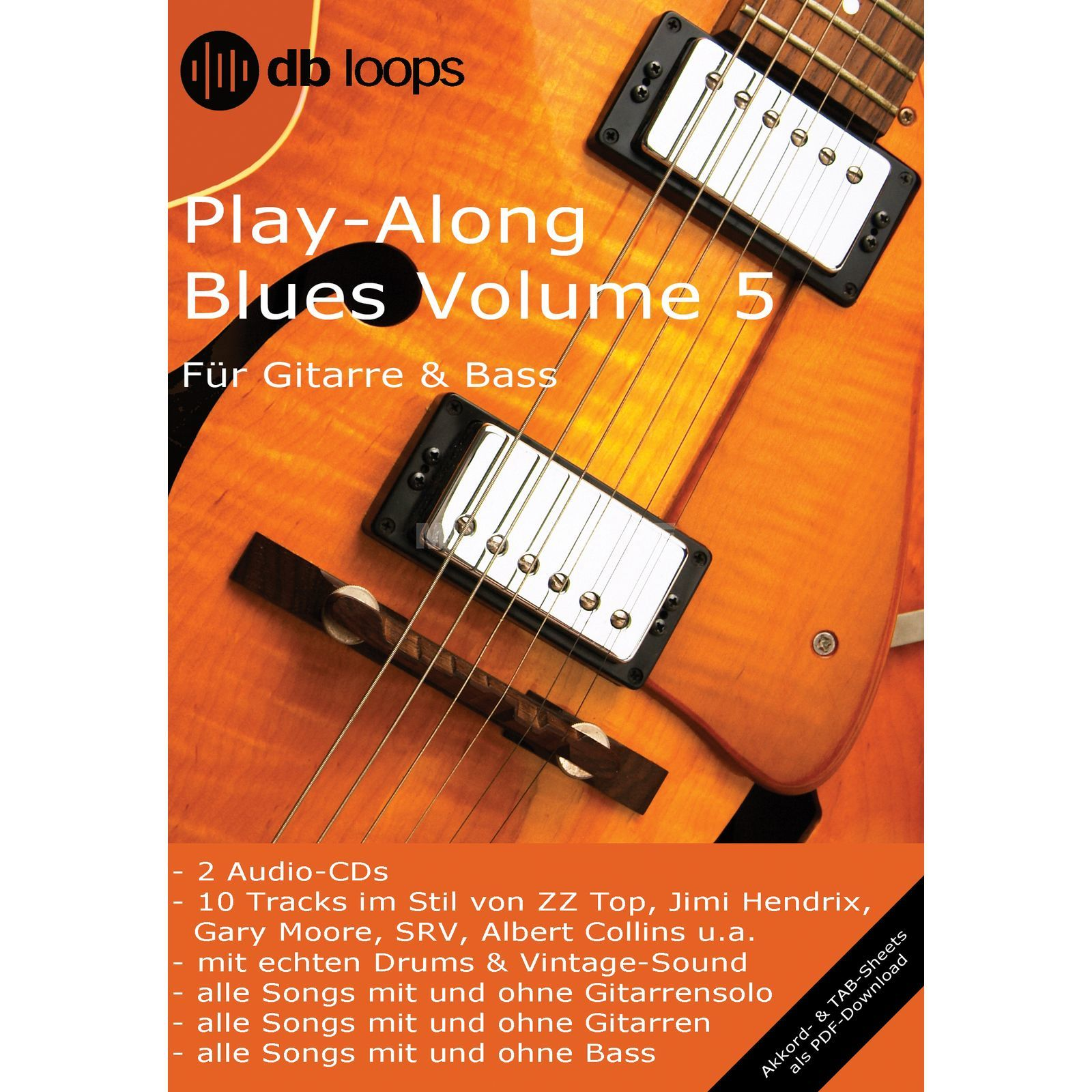 db loops Blues - Volume 5 Gitarre Playalong Image du produit