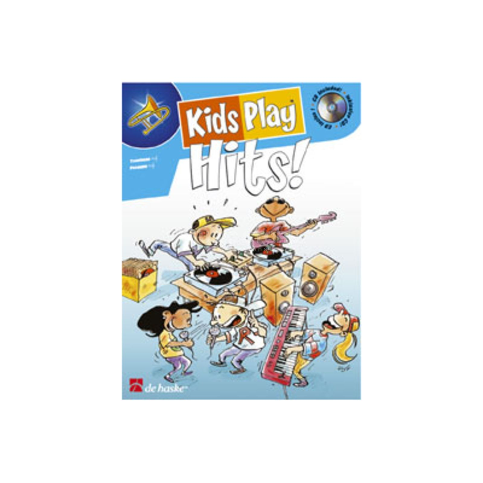 De Haske Kids Play Hits - Posaune Oldenkamp (Bearb), Buch/CD Produktbild