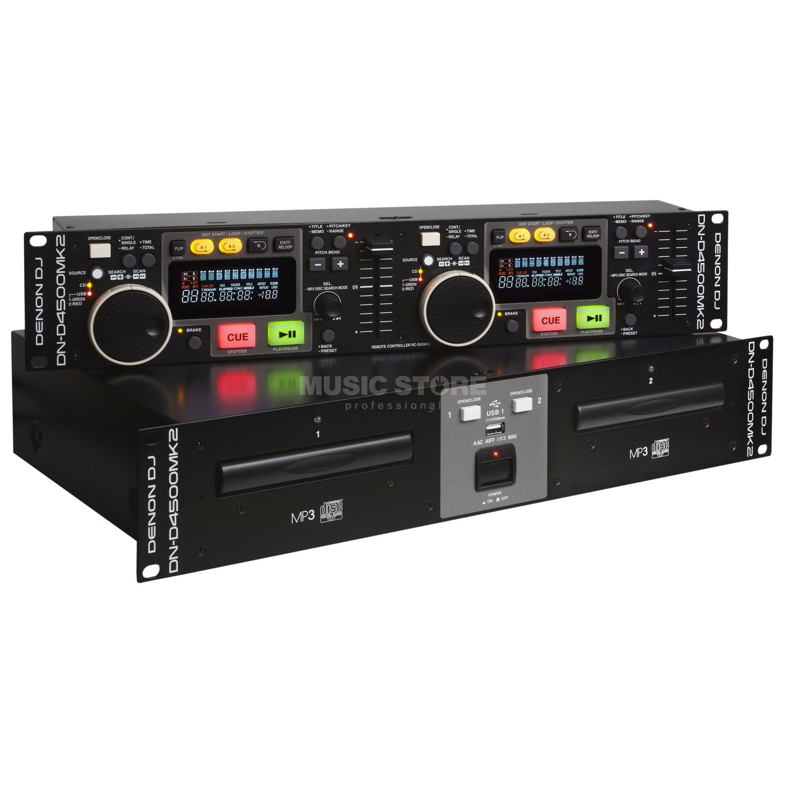 Denon DJ DN-D4500MK2 Doppel CD/Media-Player Produktbild