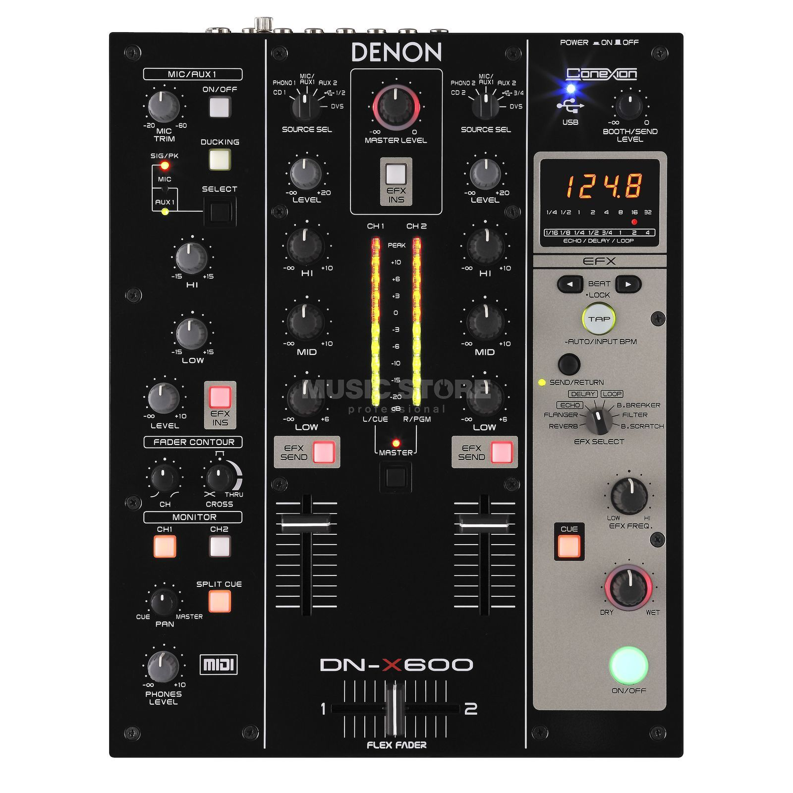Denon DJ DN-X600 Digital DJ-Mixer, Audio-Interface & Controller Produktbild
