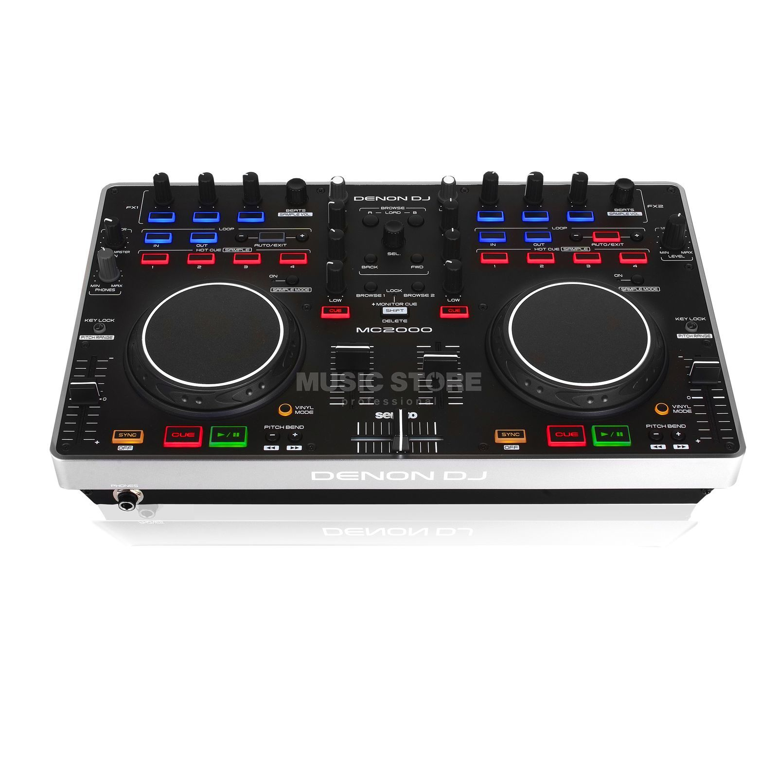 Denon DJ MC2000 DJ Controller designed for Serato DJ Intro Product Image