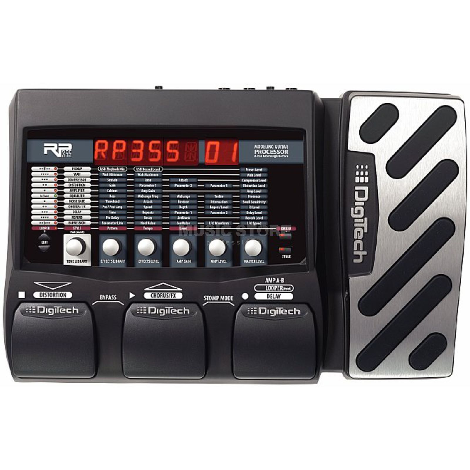 DigiTech RP355 Guitar Multi Effects Pro cessor   Produktbillede