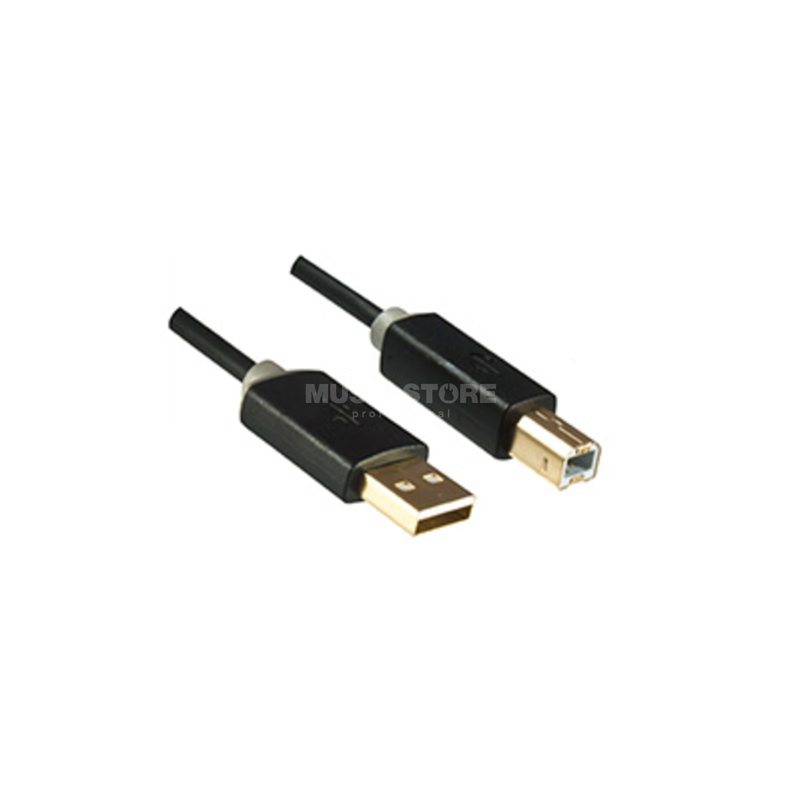 Dinic USB 2.0-Kabel schwarz A-Stecker/B-Stecker 2m Product Image