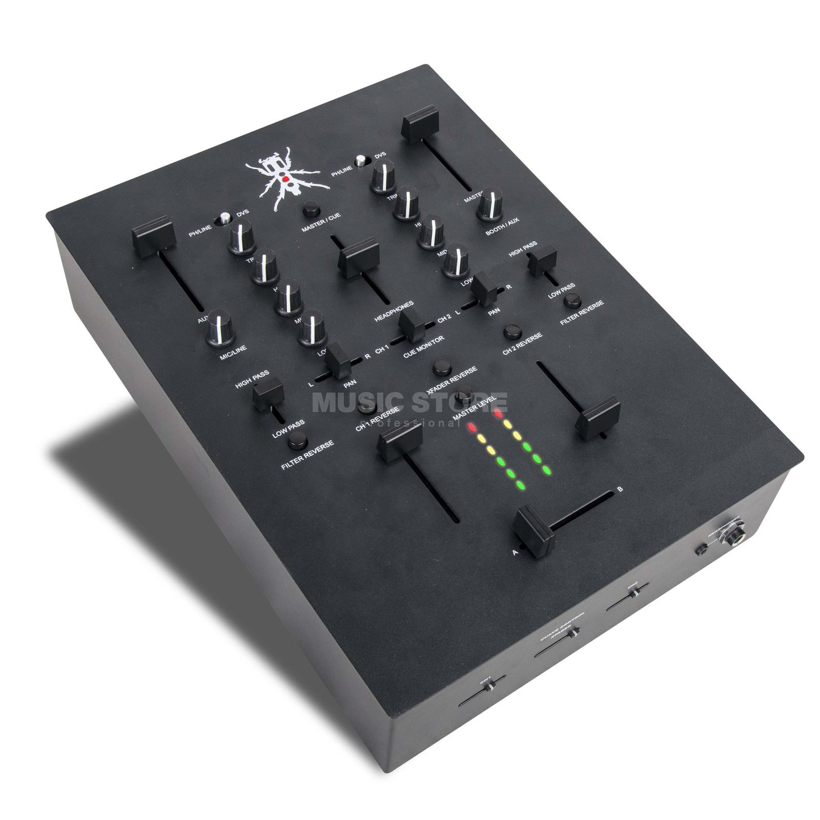 DJ-TECH TRX black Hochleistungs-Scratch-Mixer Produktbillede