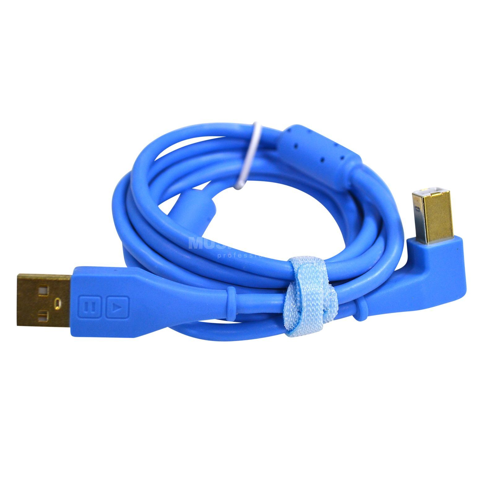 DJ TECHTOOLS DJTT USB Chroma Cable Blue 1.5m, angled Product Image