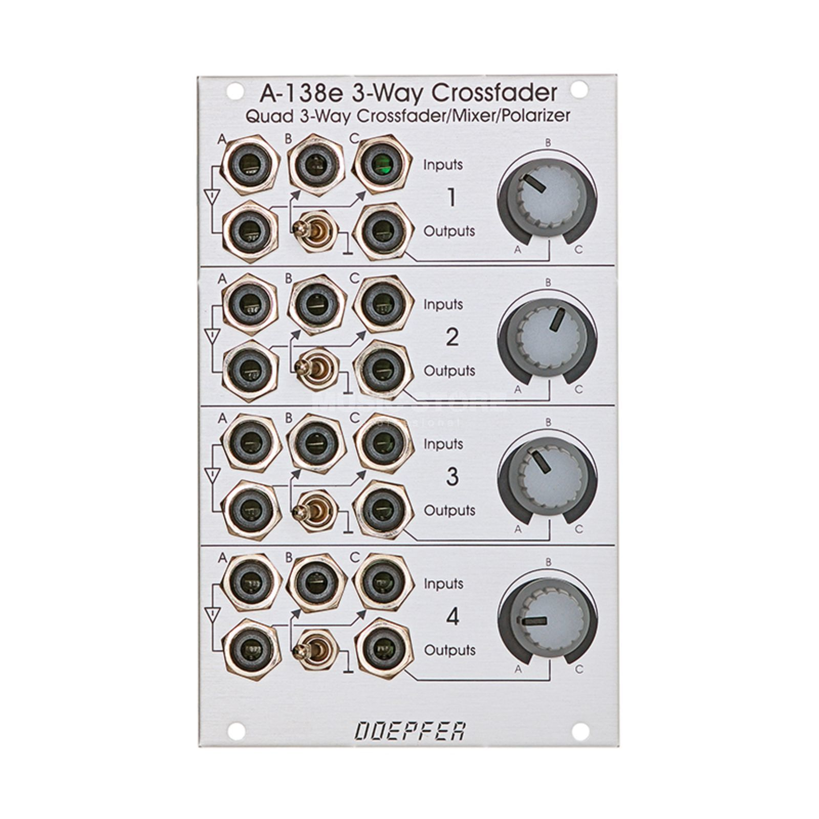 Doepfer A-138E Quad Three-Way Crossfader/ Mixer/ Polarizer Produktbillede