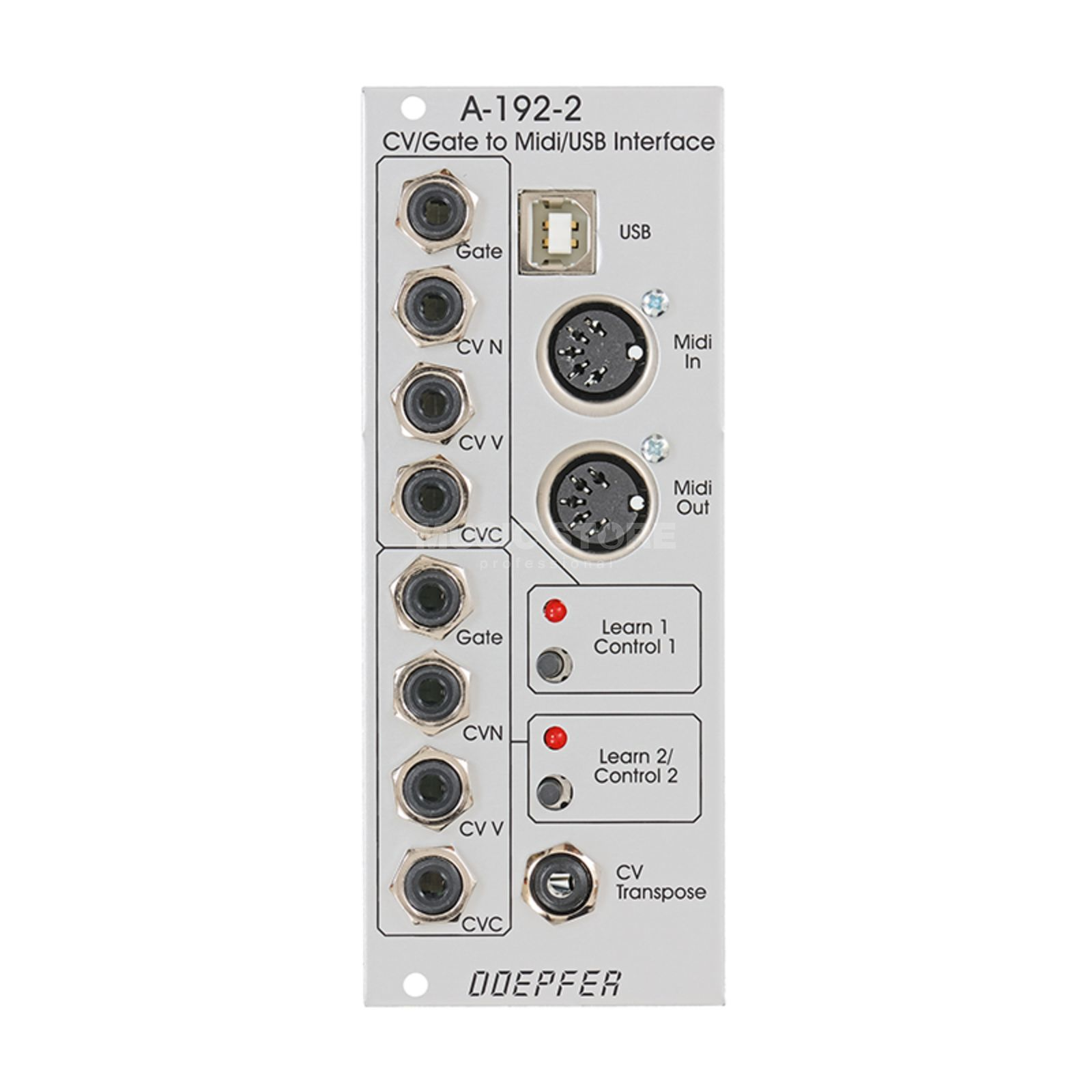 Doepfer A-192-2 CV/Gate-To-MIDI/USB-INTERFACE Produktbillede