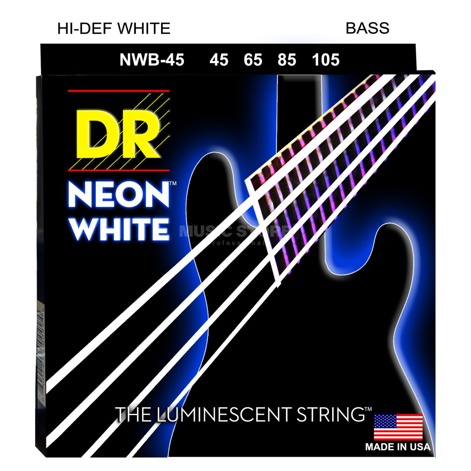 DR 4er bas 45-105 Hi-Def neon wit neon NWB-45 Productafbeelding