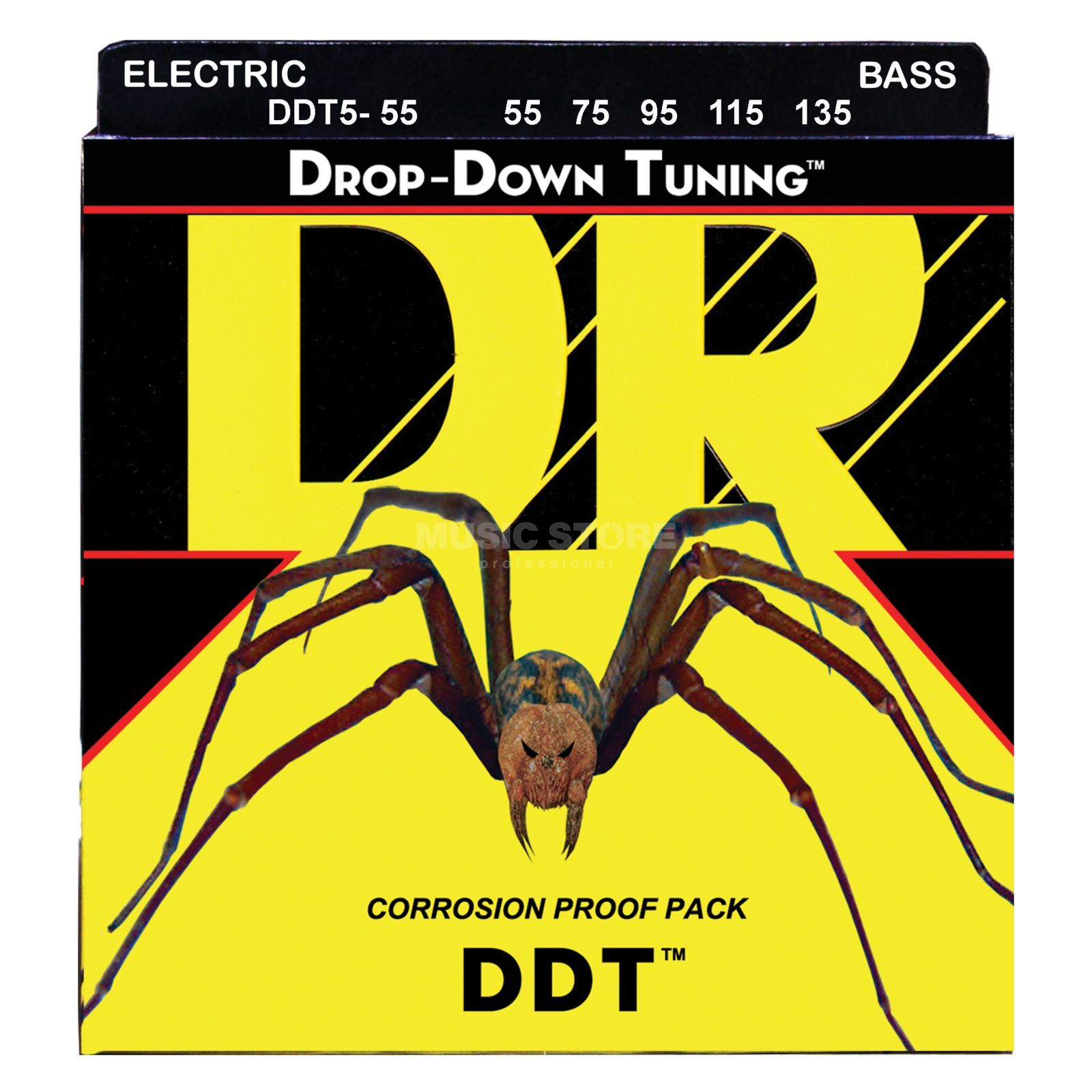 DR 5 Bass Strings 55-135 Drop-Down Tuning DDT5-55 Product Image