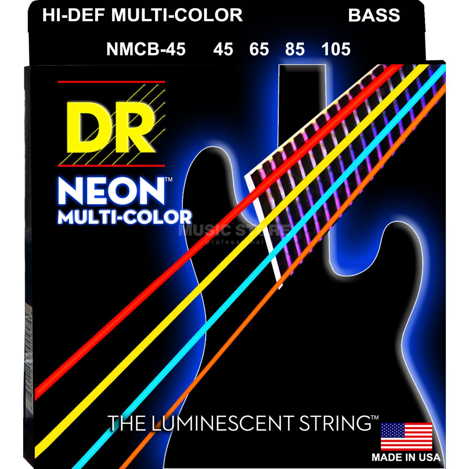 DR 5er Bass 45-105 Hi-Def Neon Multi Color Neon MCB-45 Product Image