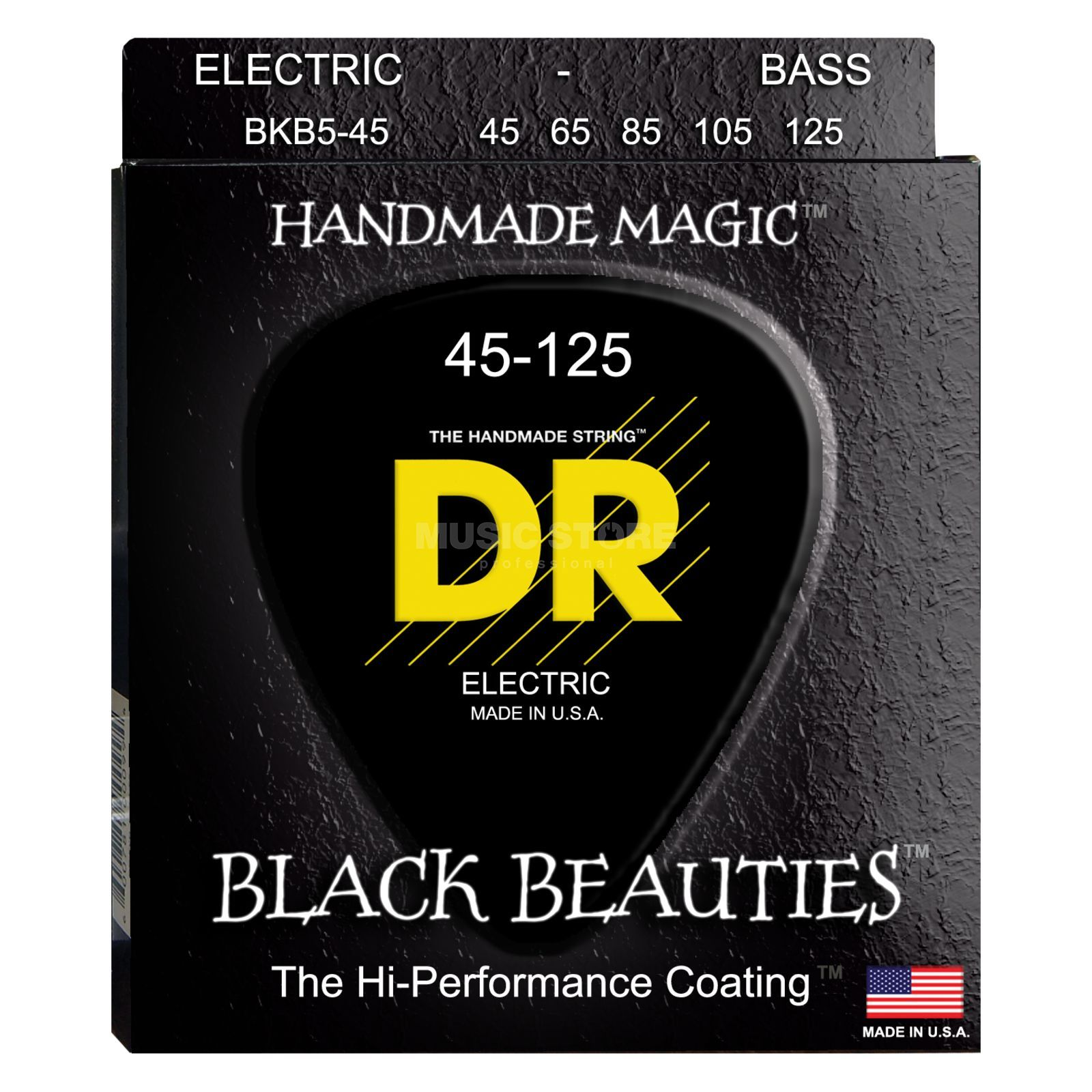 DR 5er Bass 45-125 Extra-Life Black Beauties BKB5-45 Изображение товара