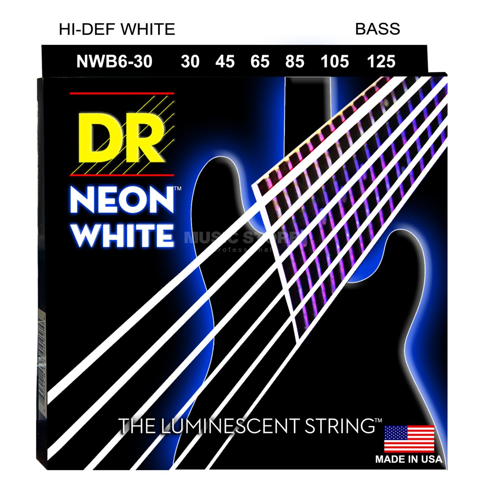 DR 6er bas 30-125 Hi-Def neon wit neon NWB6-30 Productafbeelding