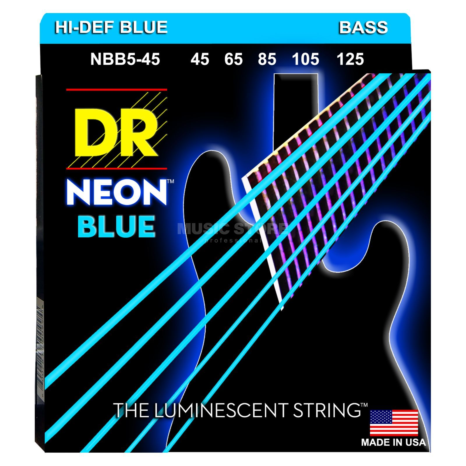 DR 6er Bass 45-125 Hi-Def Neon Blue Neon NBB5-45 Product Image