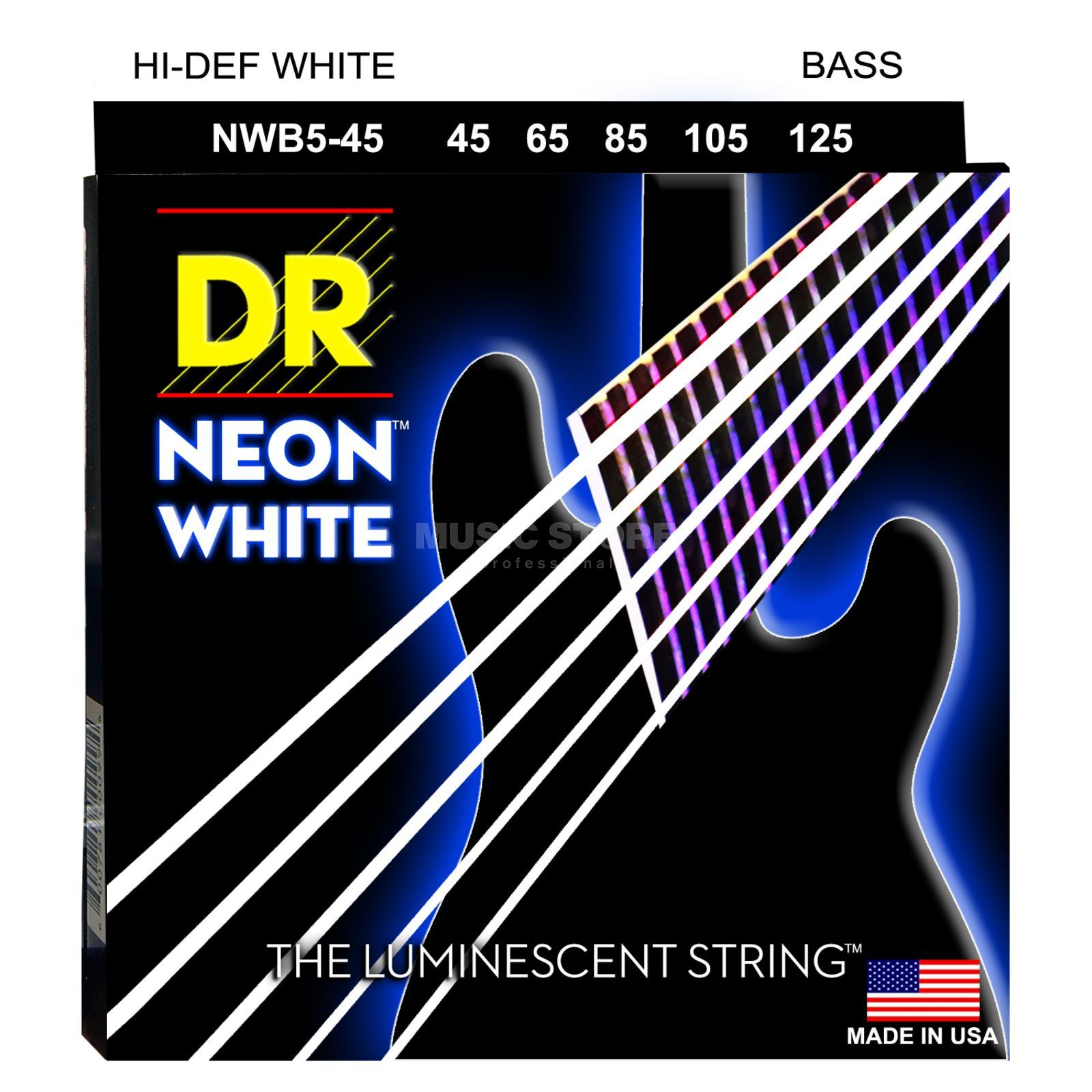 DR 6er Bass 45-125 Hi-Def Neon White Neon NWB5-45 Product Image