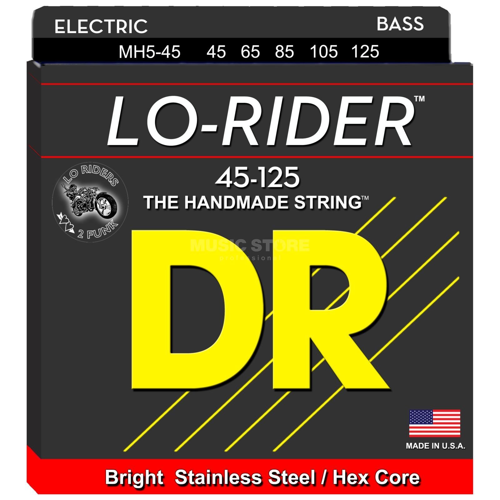 DR Bass 5 Set 45-130 Lo Rider Stainless Steel MH5-45-130 Product Image