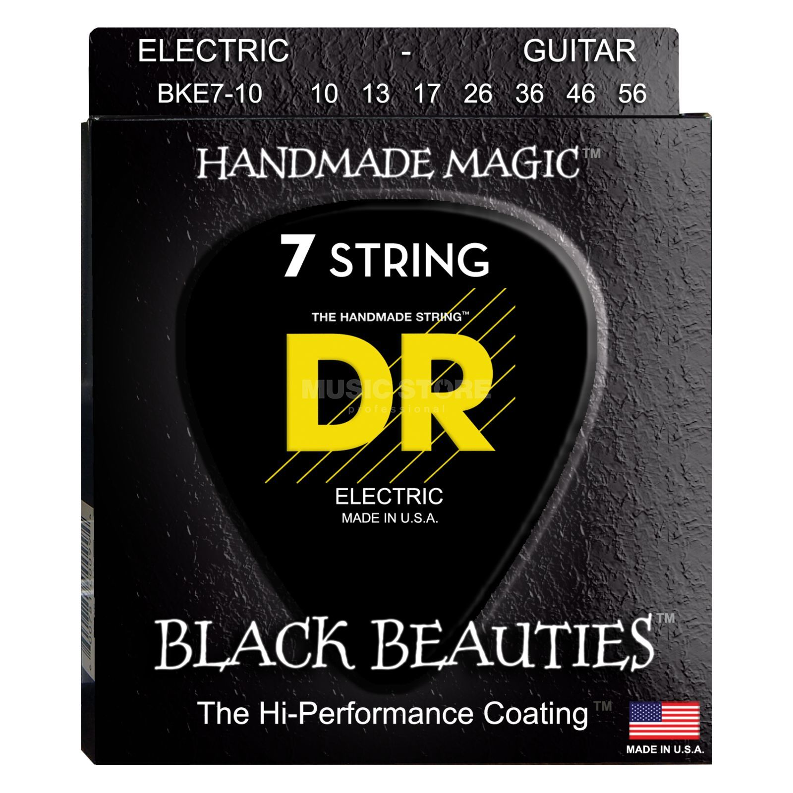 DR BKE7-10 10-56 Black Beauties 7-string Extra Life Produktbild