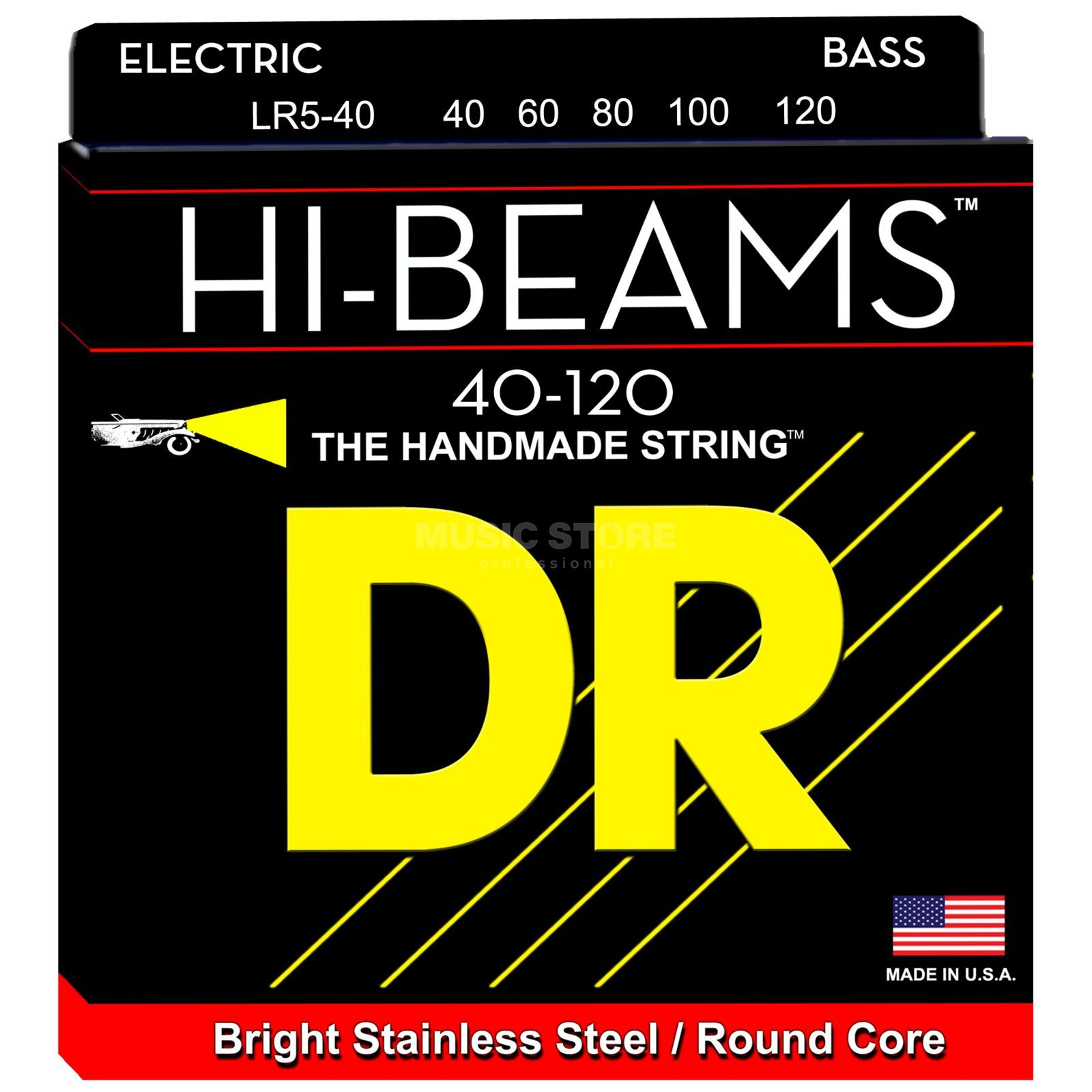 DR E-Bass 5er High Beam 040 - 120 Tite  Long Scale Produktbillede