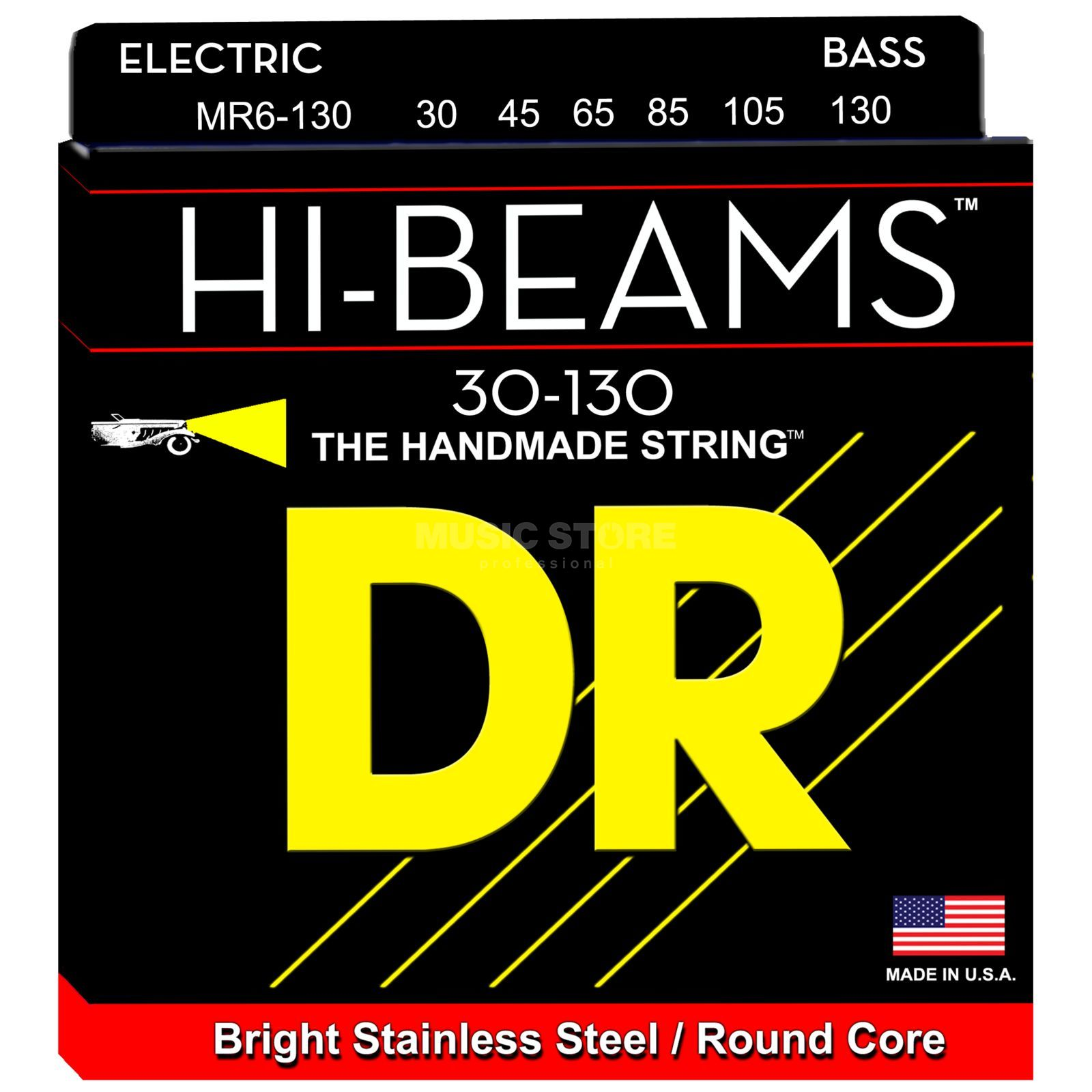 DR E-Bass 6er High Beam 030 - 130 Tite Medium Long Scale Zdjęcie produktu