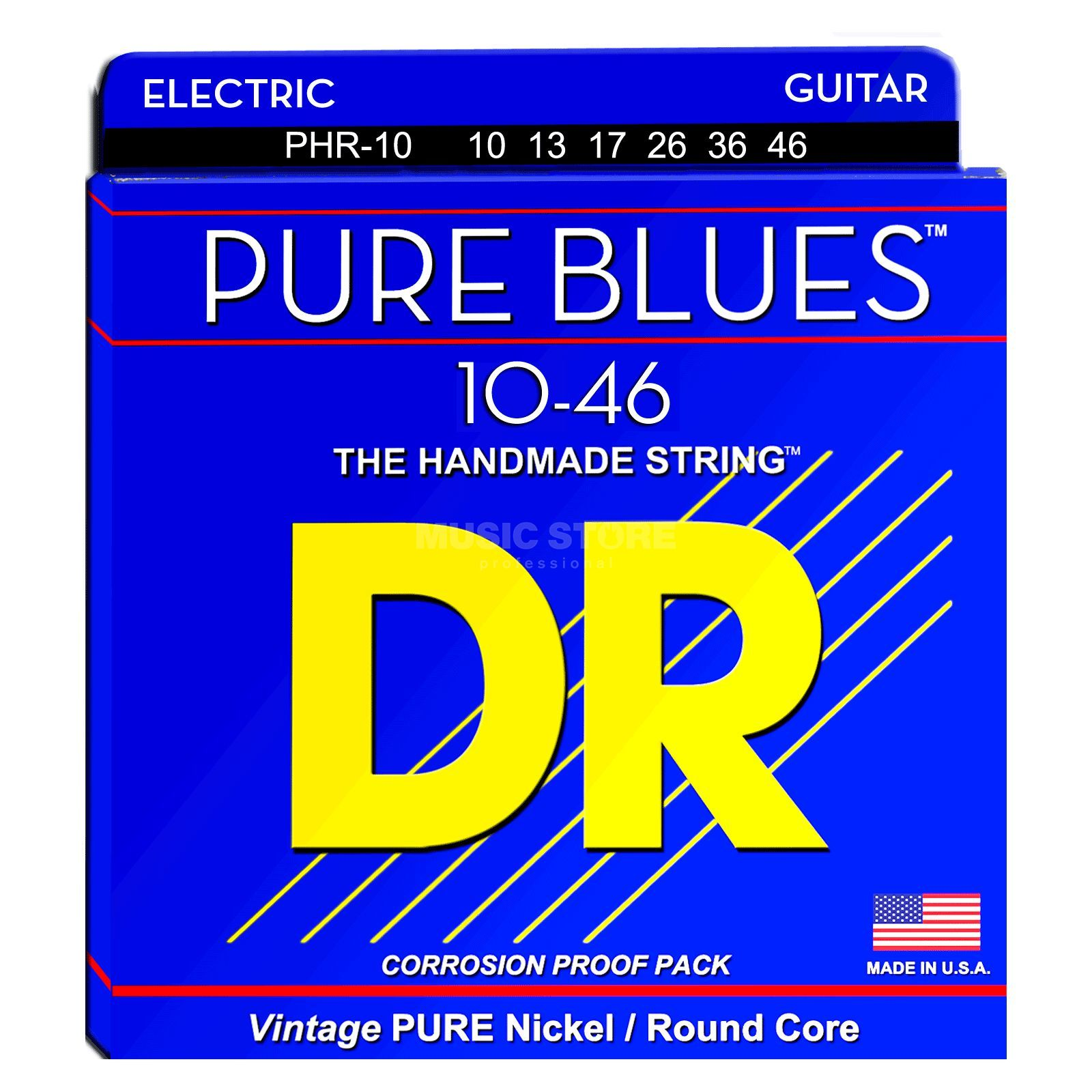 DR E-Git.Saiten 10-46 Pure Blues Pure Nickel PHR-10 Produktbild