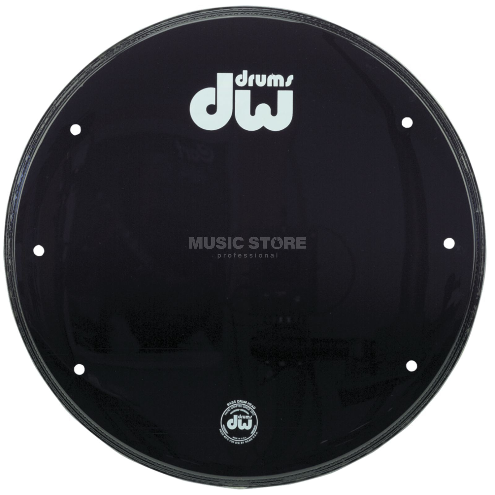 "Drum Workshop Bass Drum Front Head 22"", black, w/logo Produktbillede"