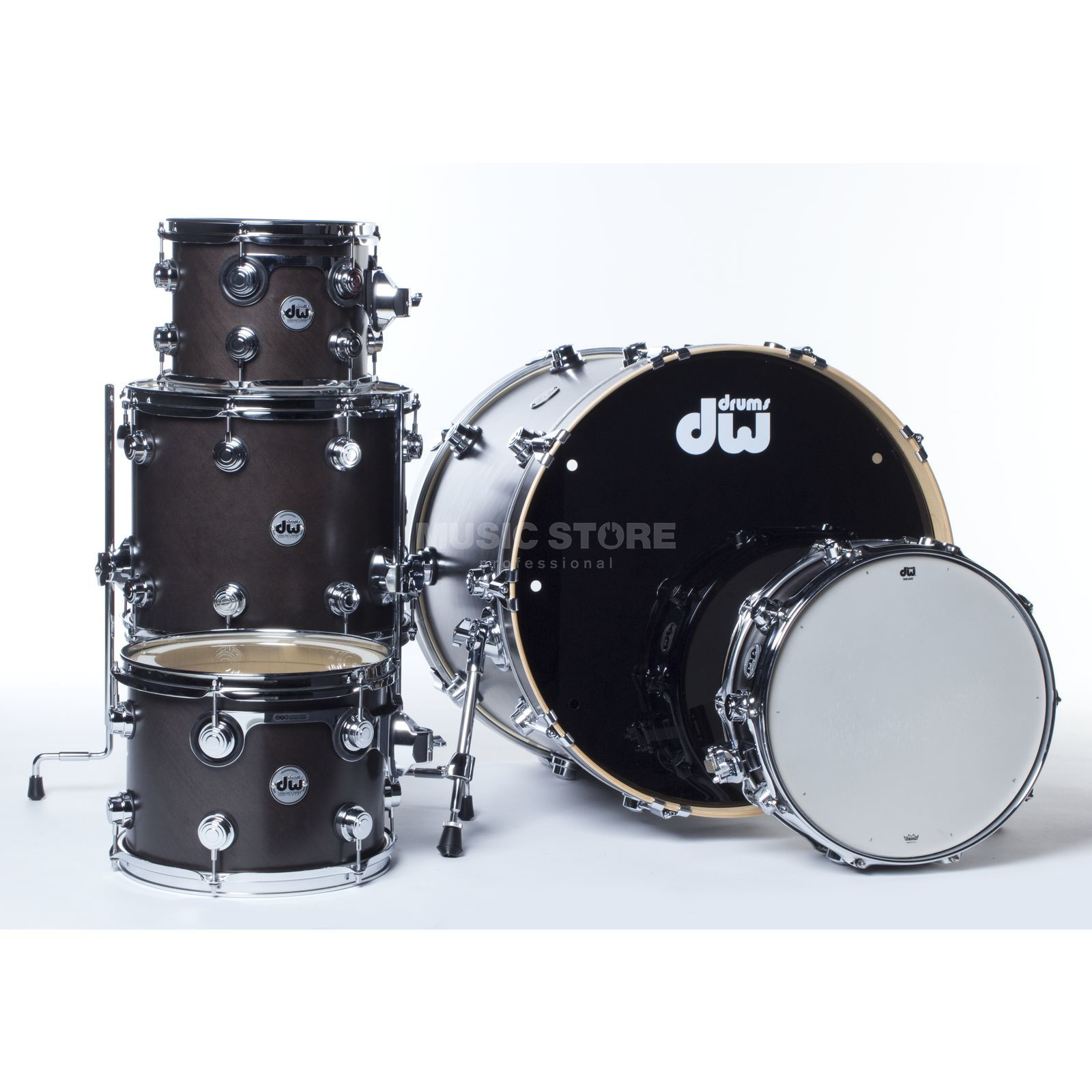 Drum Workshop Collector´s Satin Oil ShellSet Ebony, Chrome HW Produktbild