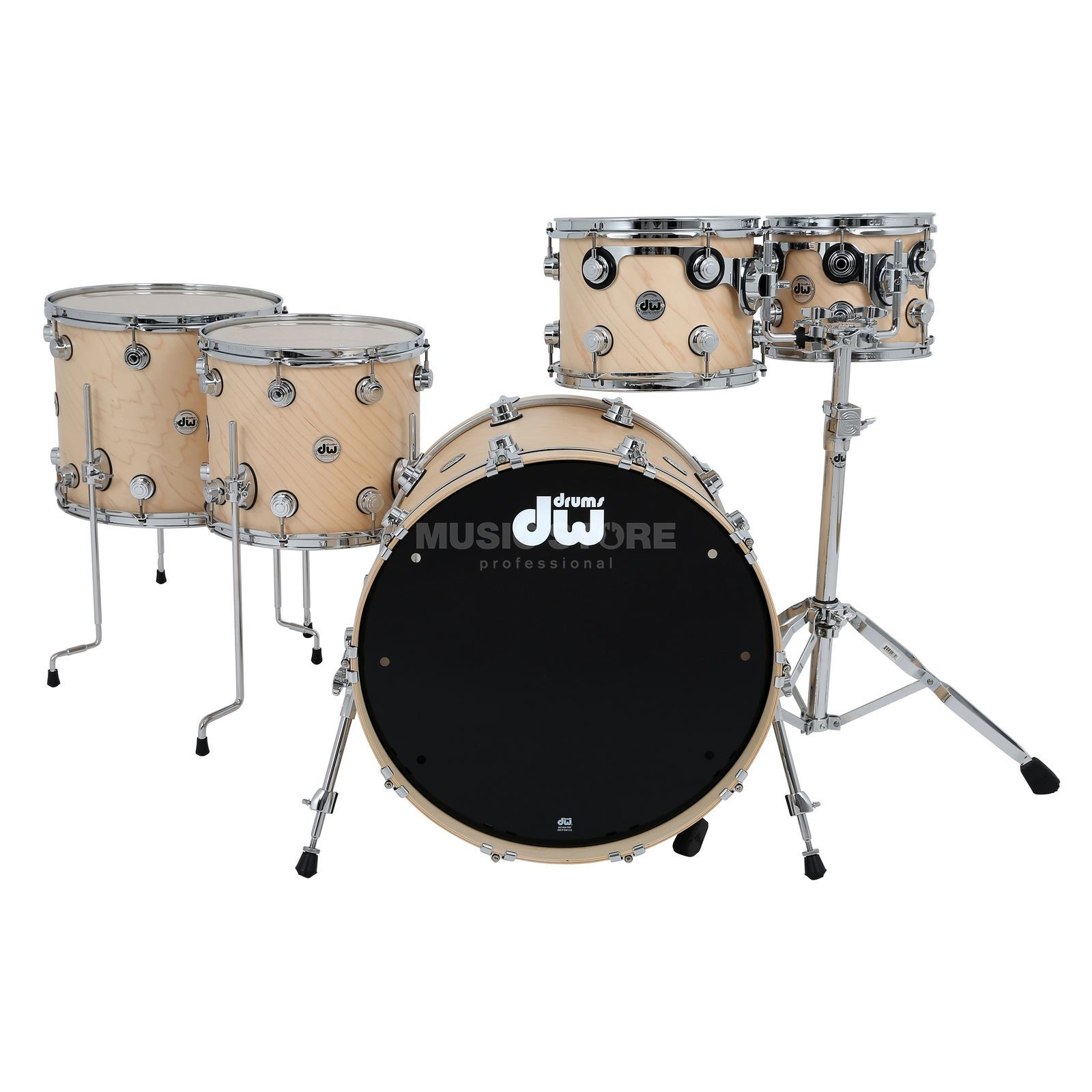 Drum Workshop Collector´s Satin Oil Shellset Natural, Chrome HW Produktbillede