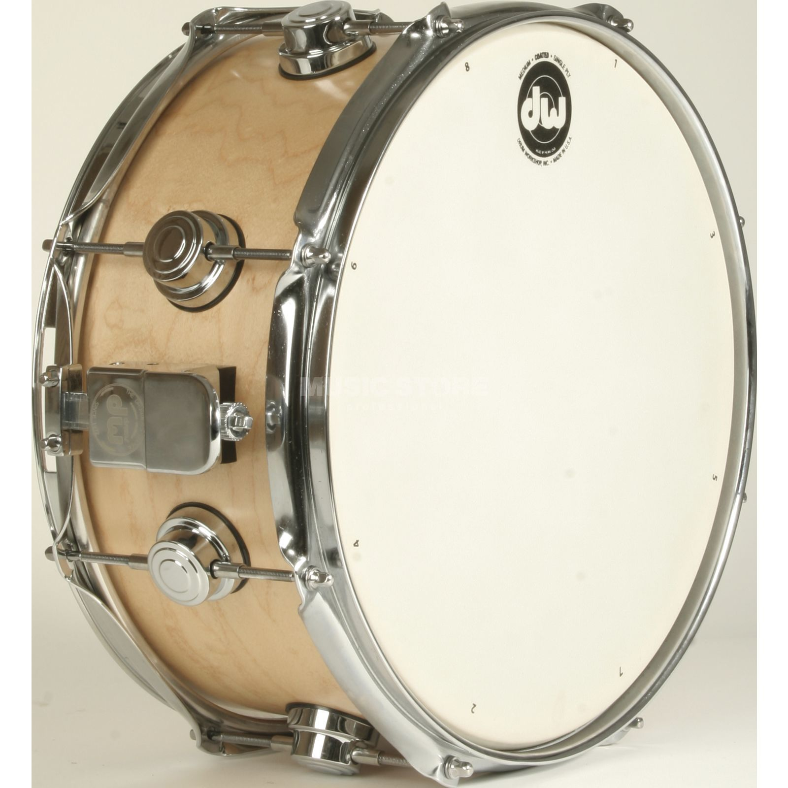"Drum Workshop Collector´s Satin Oil Snare 13""x6"", Natural, Chrome HW Produktbild"