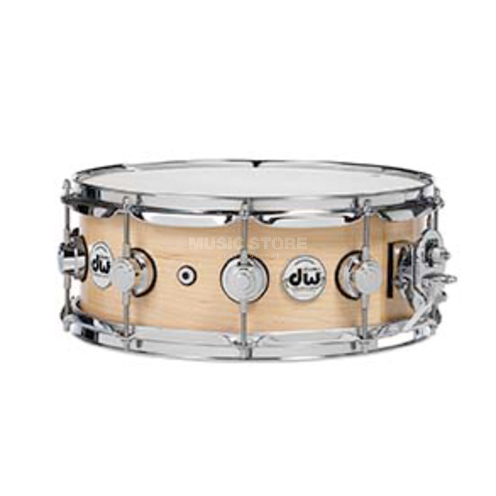 "Drum Workshop Collector…s Satin Oil Snare 14""x5"", Natural, Chrome HW Produktbillede"