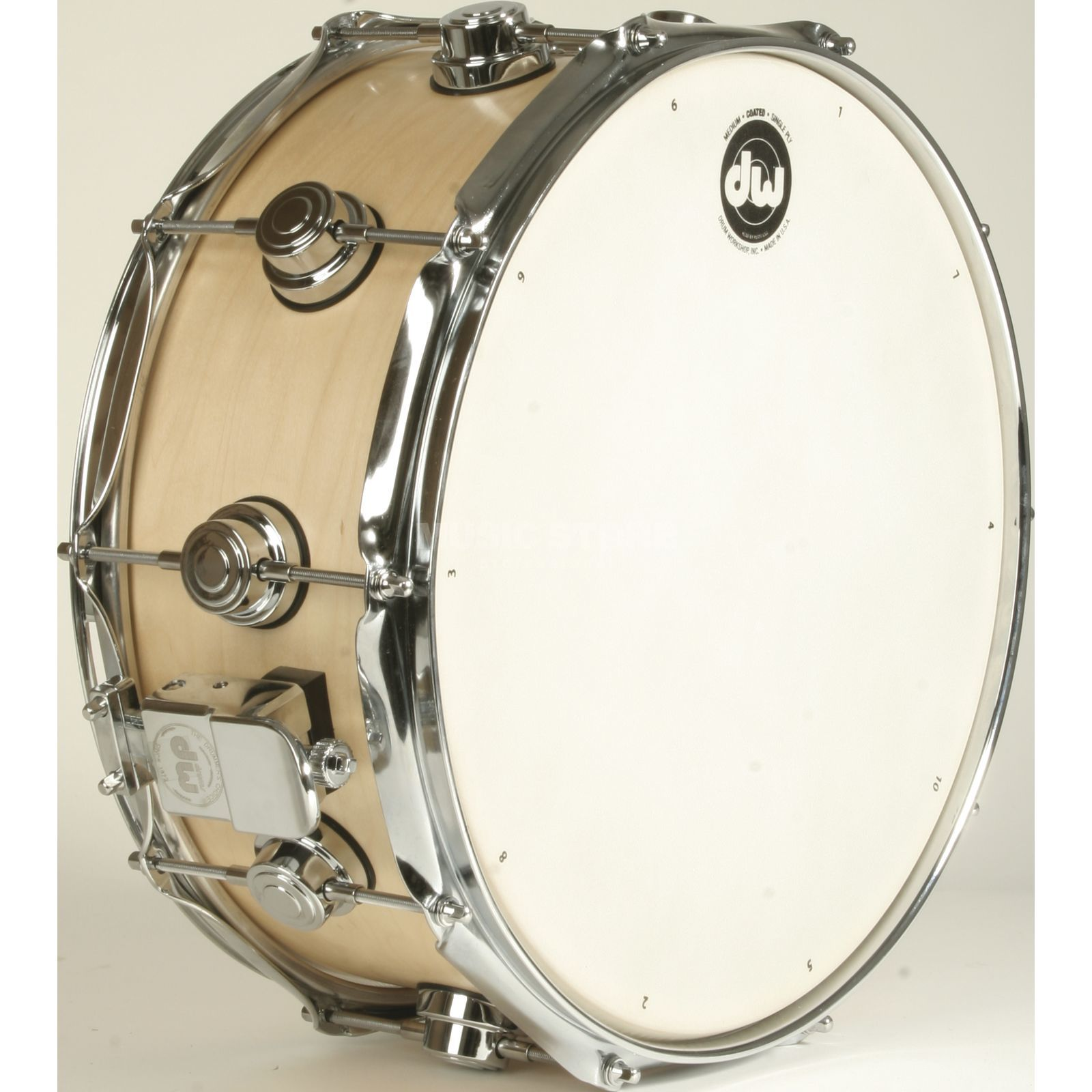 "Drum Workshop Collector…s Satin Oil Snare 14""x6"", Natural, Chrome HW Produktbillede"