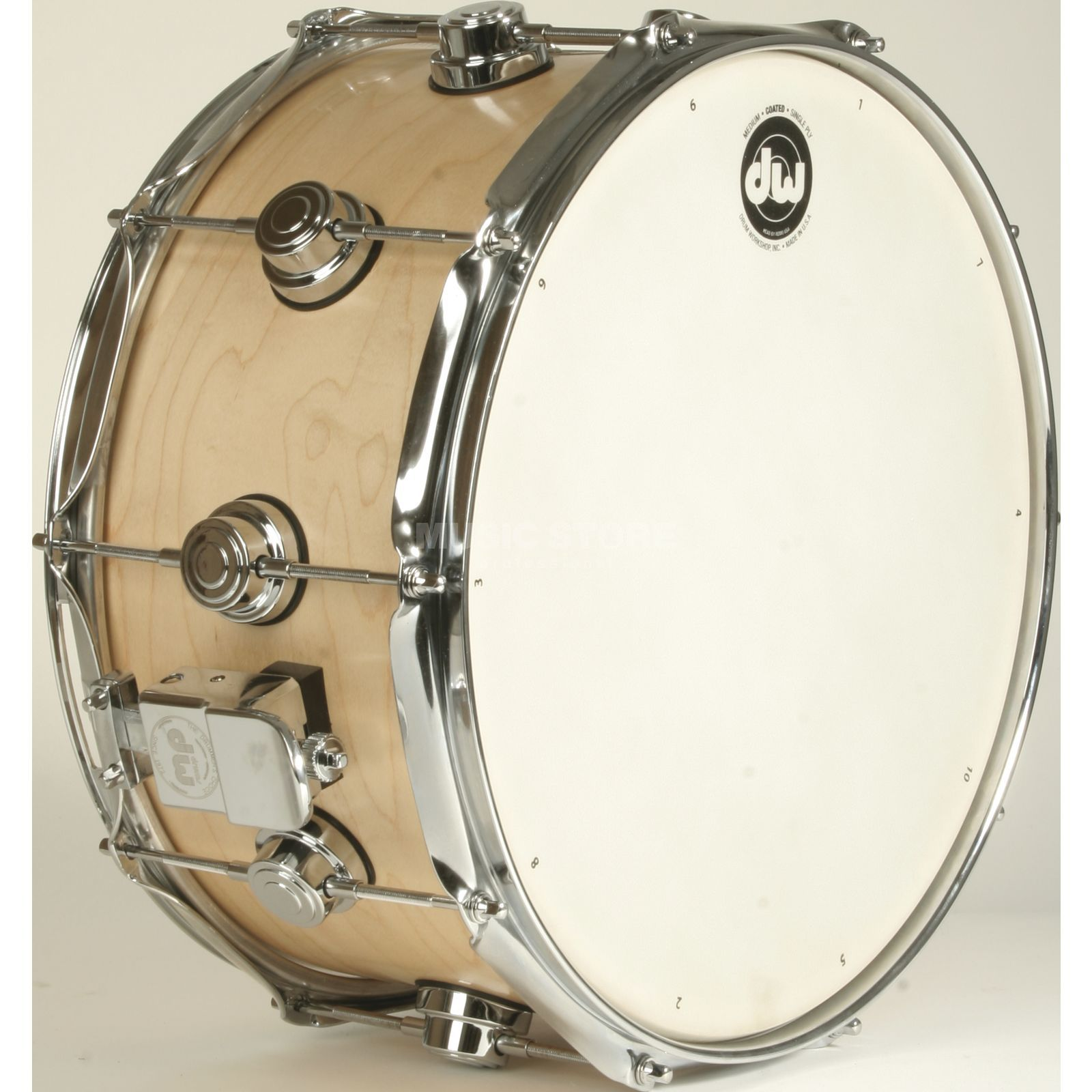 "Drum Workshop Collector´s Satin Oil Snare 14""x7"", Natural, Chrome HW Imagem do produto"