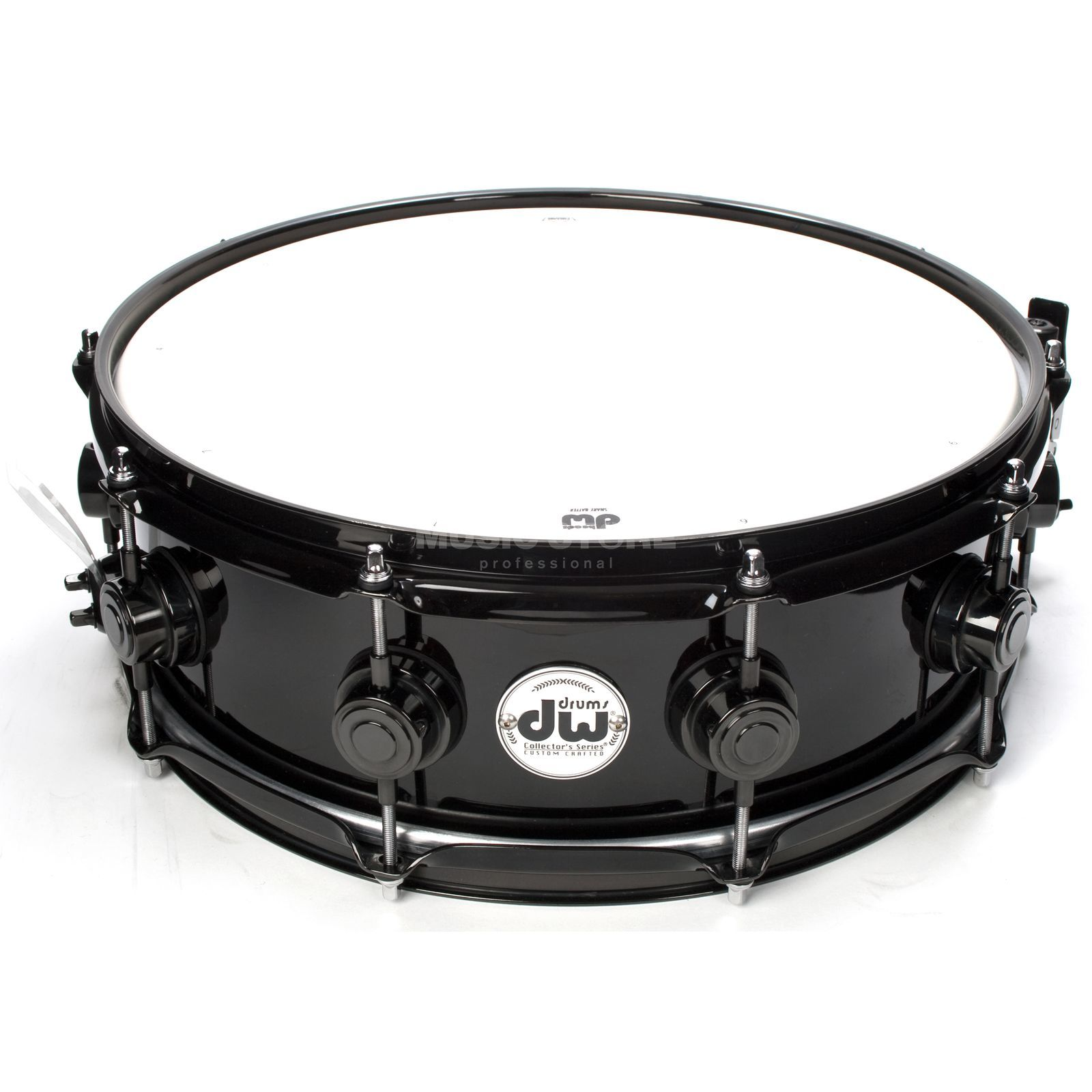 "Drum Workshop Collector´s Snare 14""x5"", Solid Black, Black HW Produktbild"