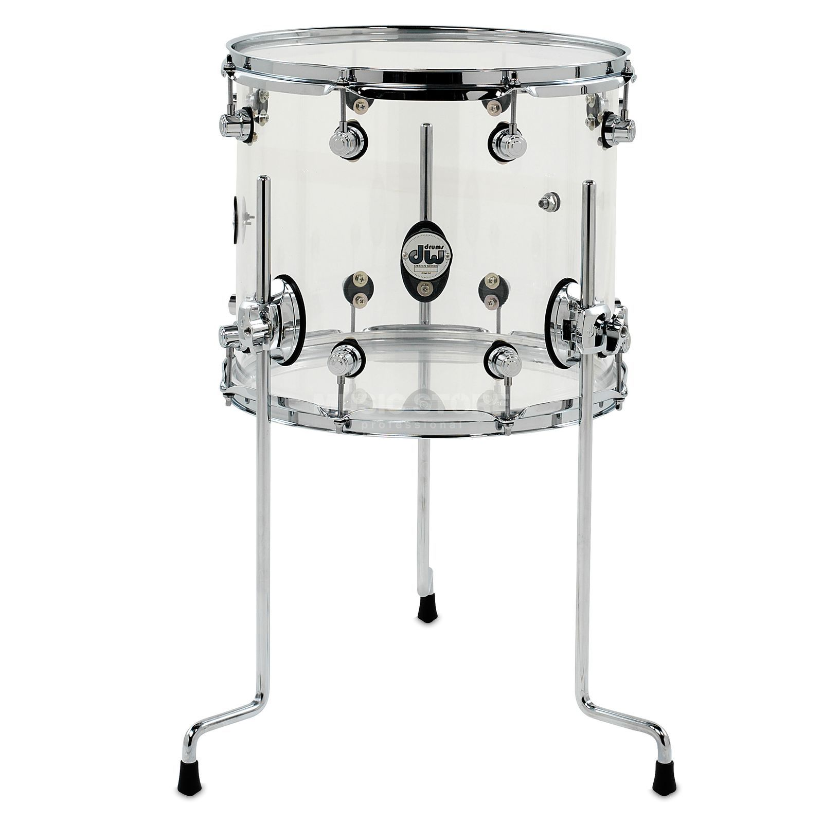 "Drum Workshop Design Acryl FloorTom 18""x16"", Clear Produktbillede"