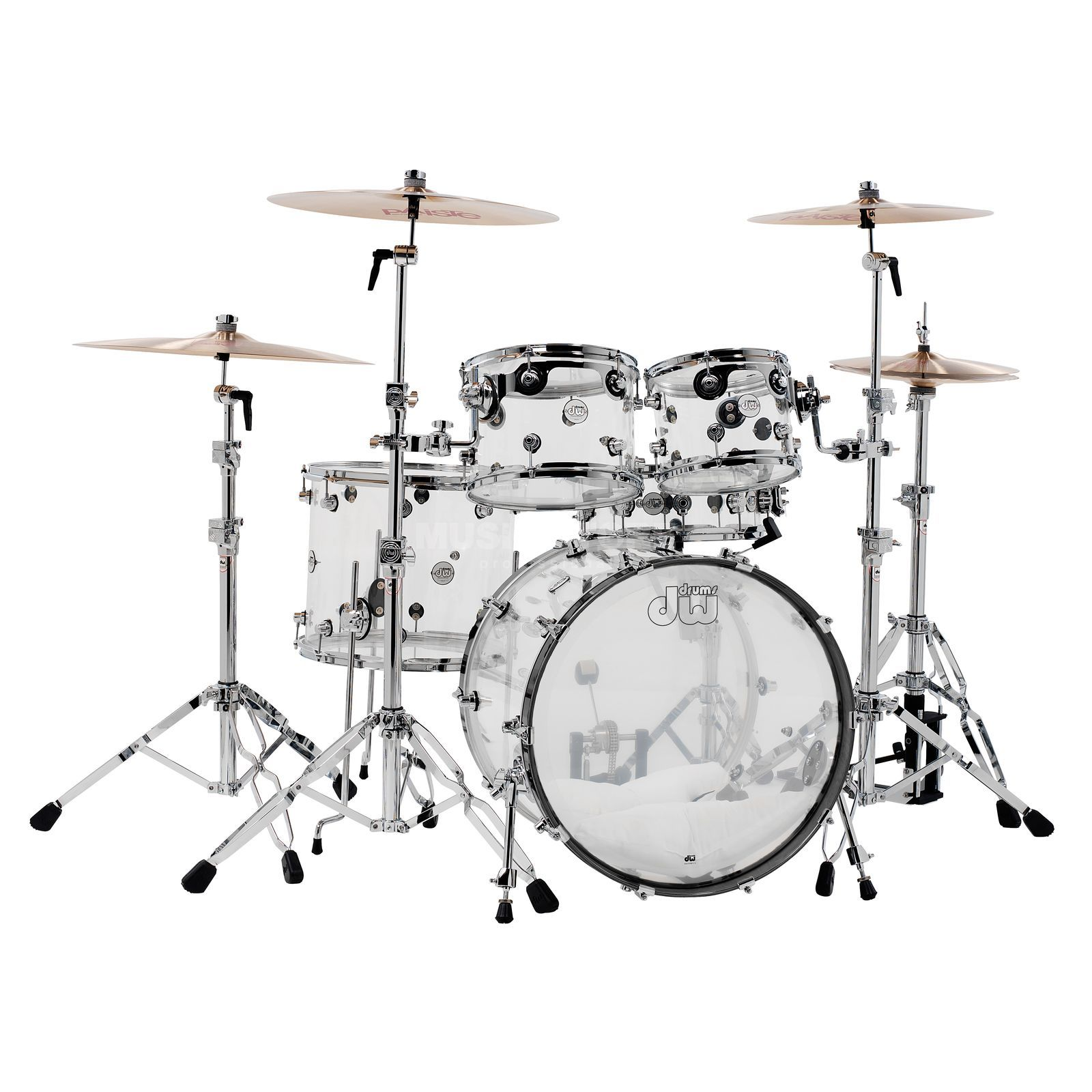 Drum Workshop Design Acryl ShellSet, Clear Product Image