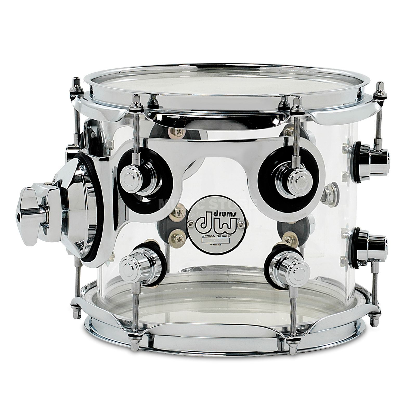 "Drum Workshop Design Acryl Tom 8""x7"", Clear Produktbillede"