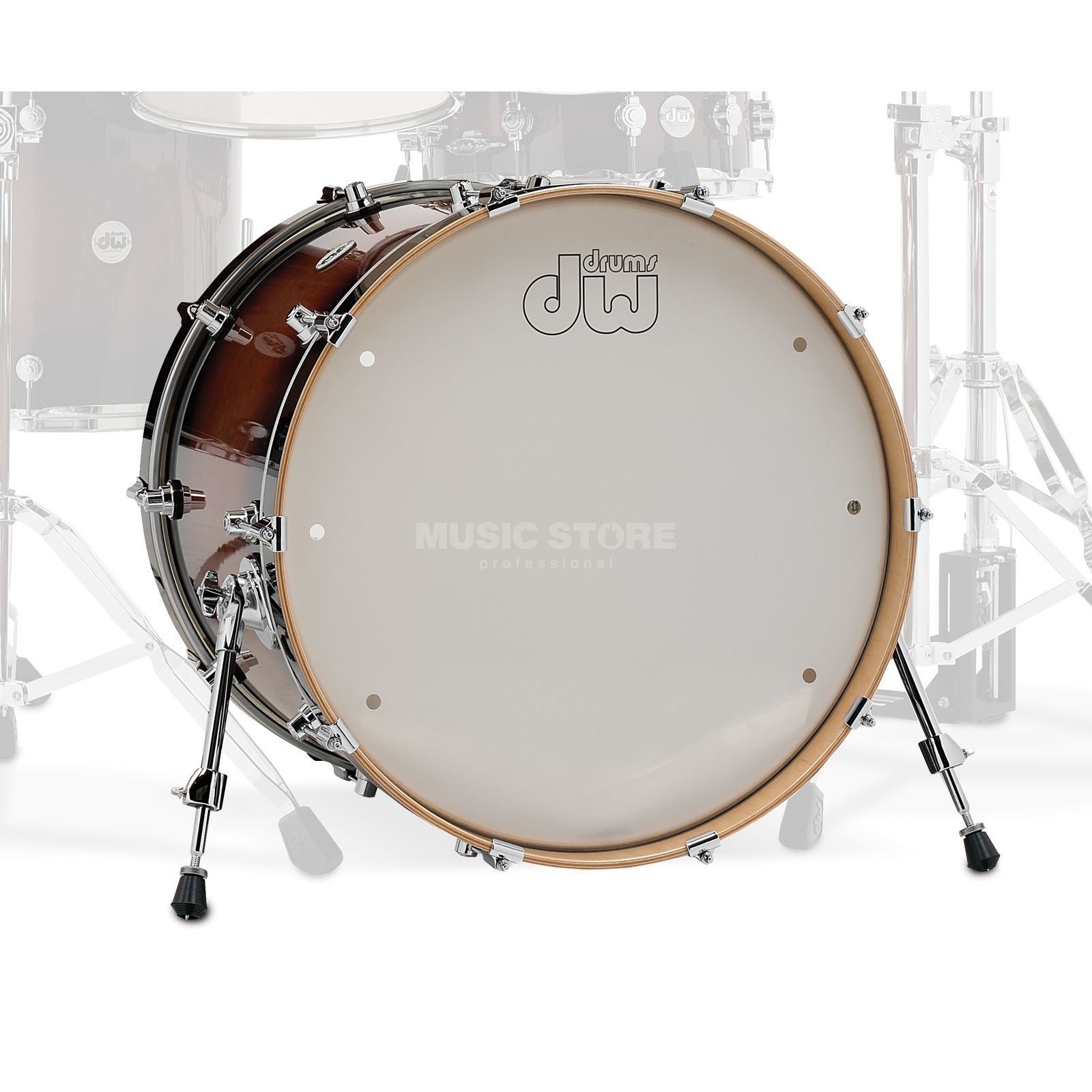 "Drum Workshop Design BassDrum 22""x18"", Tobacco Burst Product Image"