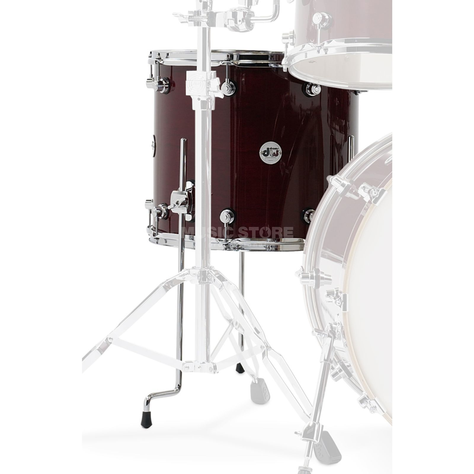 "Drum Workshop Design Floortom 18""x16"", Cherry Stain Product Image"