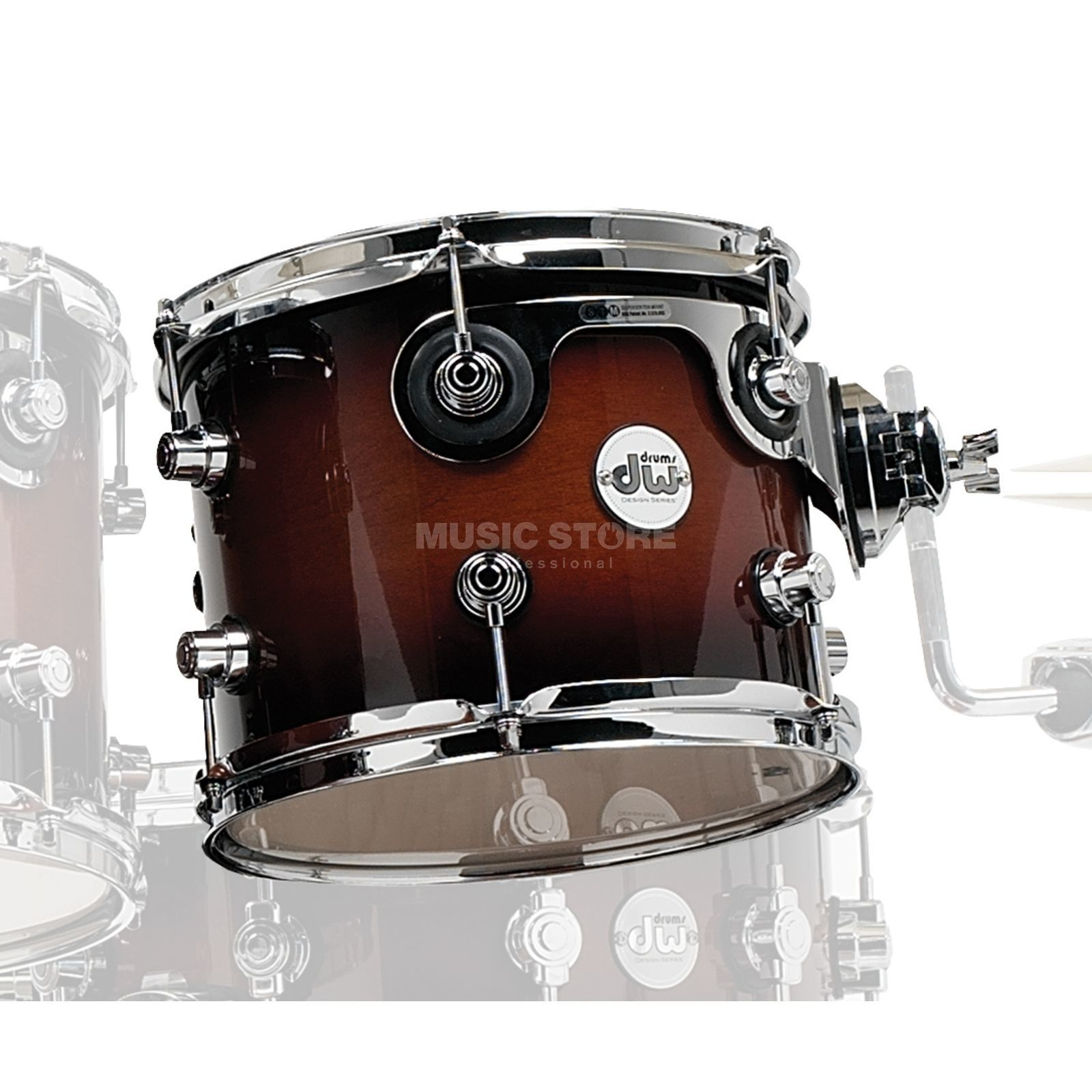"Drum Workshop Design Tom 8""x7"", Tobacco Burst Produktbild"