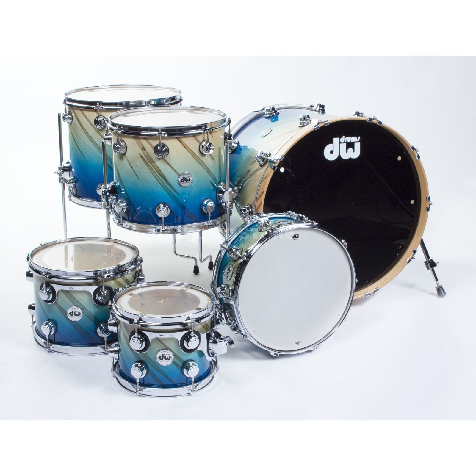 Drum Workshop Exotic Maple SSC ShellSet, Blue Fade o. Twisted Mineral Produktbild