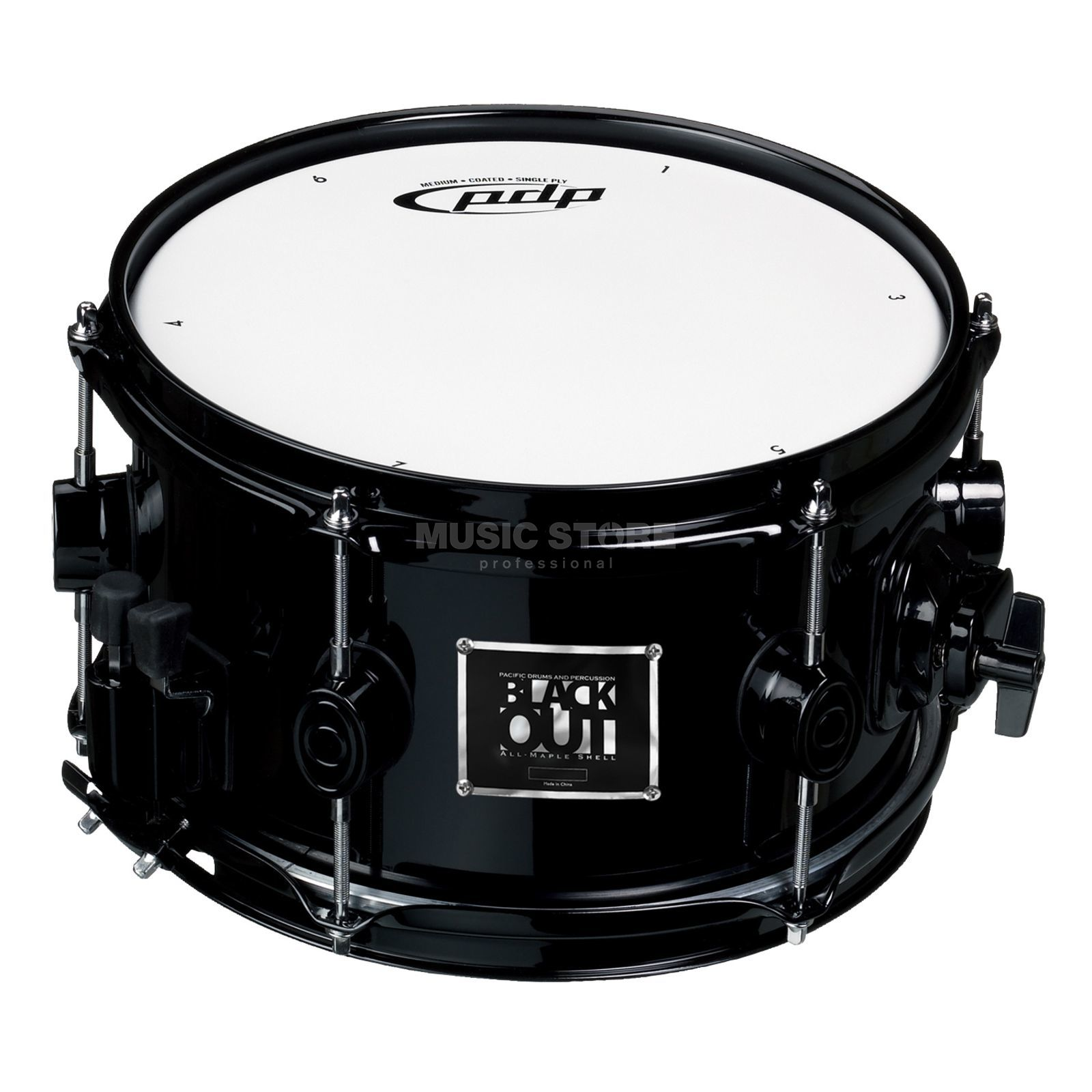 "Drum Workshop PDP Blackout Snare 10""x6""  Produktbillede"