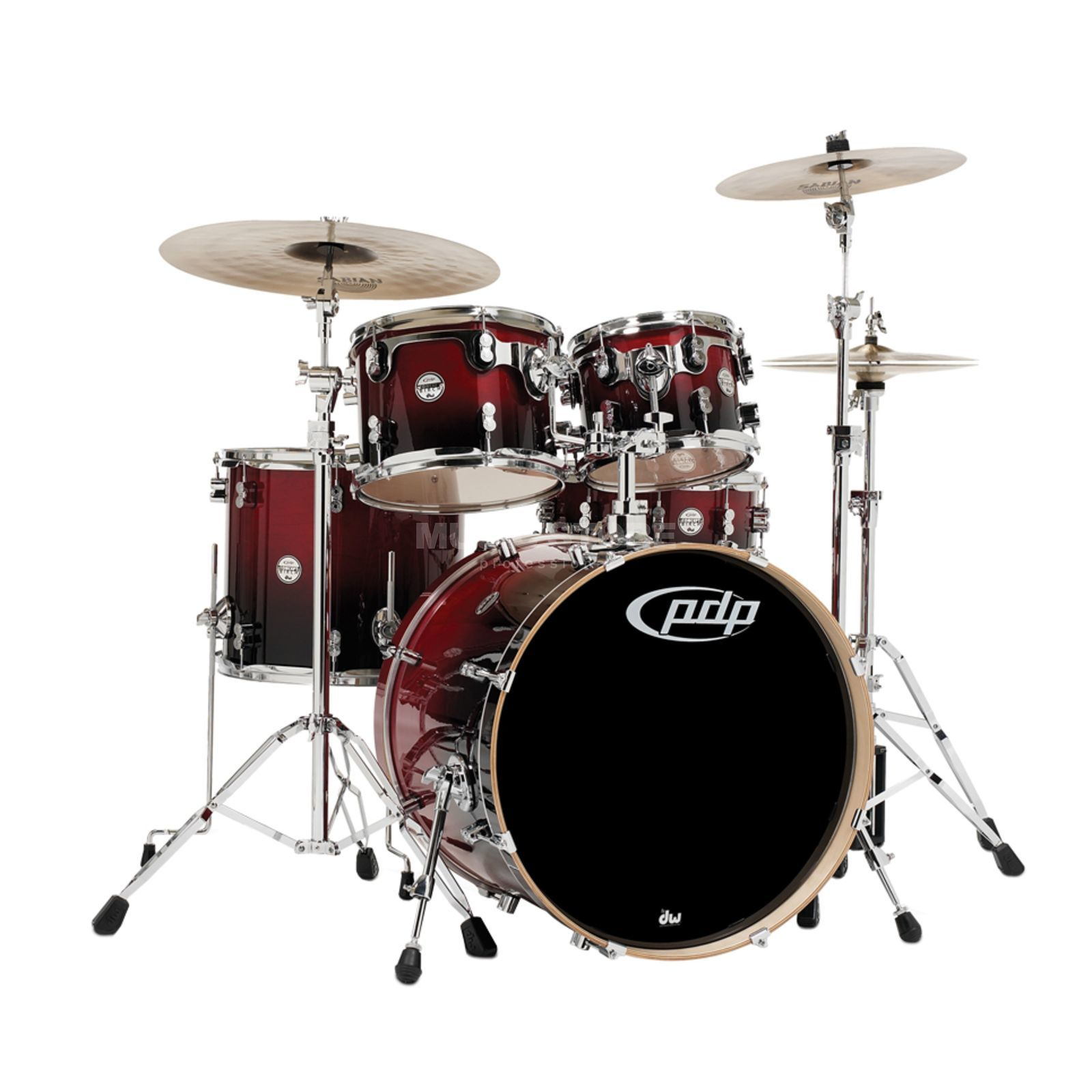 Drum Workshop PDP Concept Birch CB5, Cherry to Black Fade Produktbild