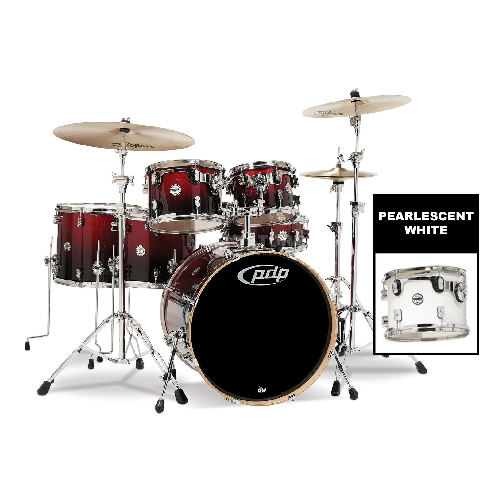 Drum Workshop PDP Concept Maple CM6, Pearlescent White Produktbillede