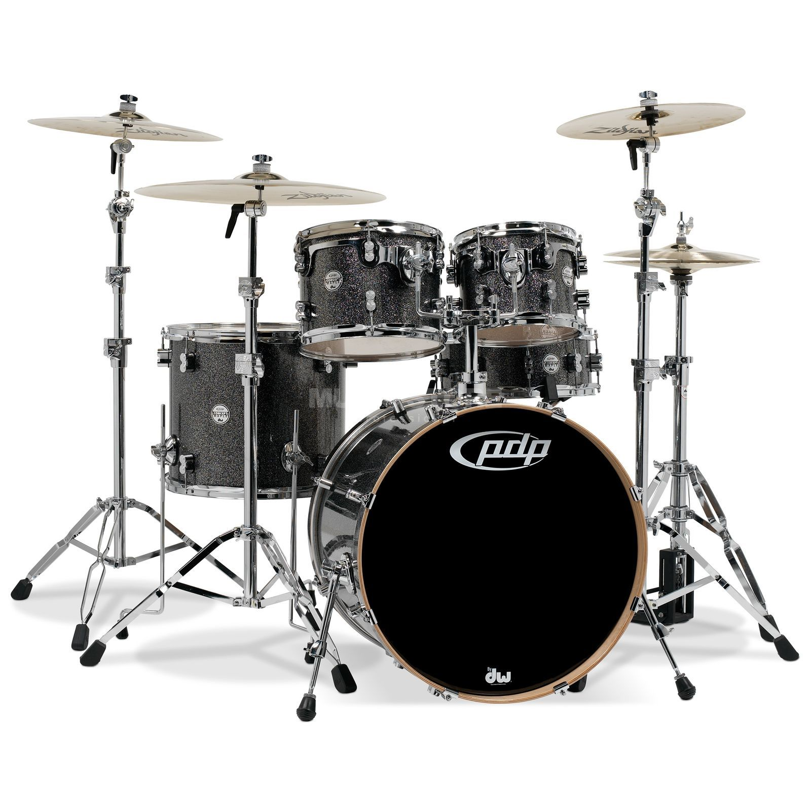 Drum Workshop PDP Concept Maple CM7, Black Sparkle Produktbild